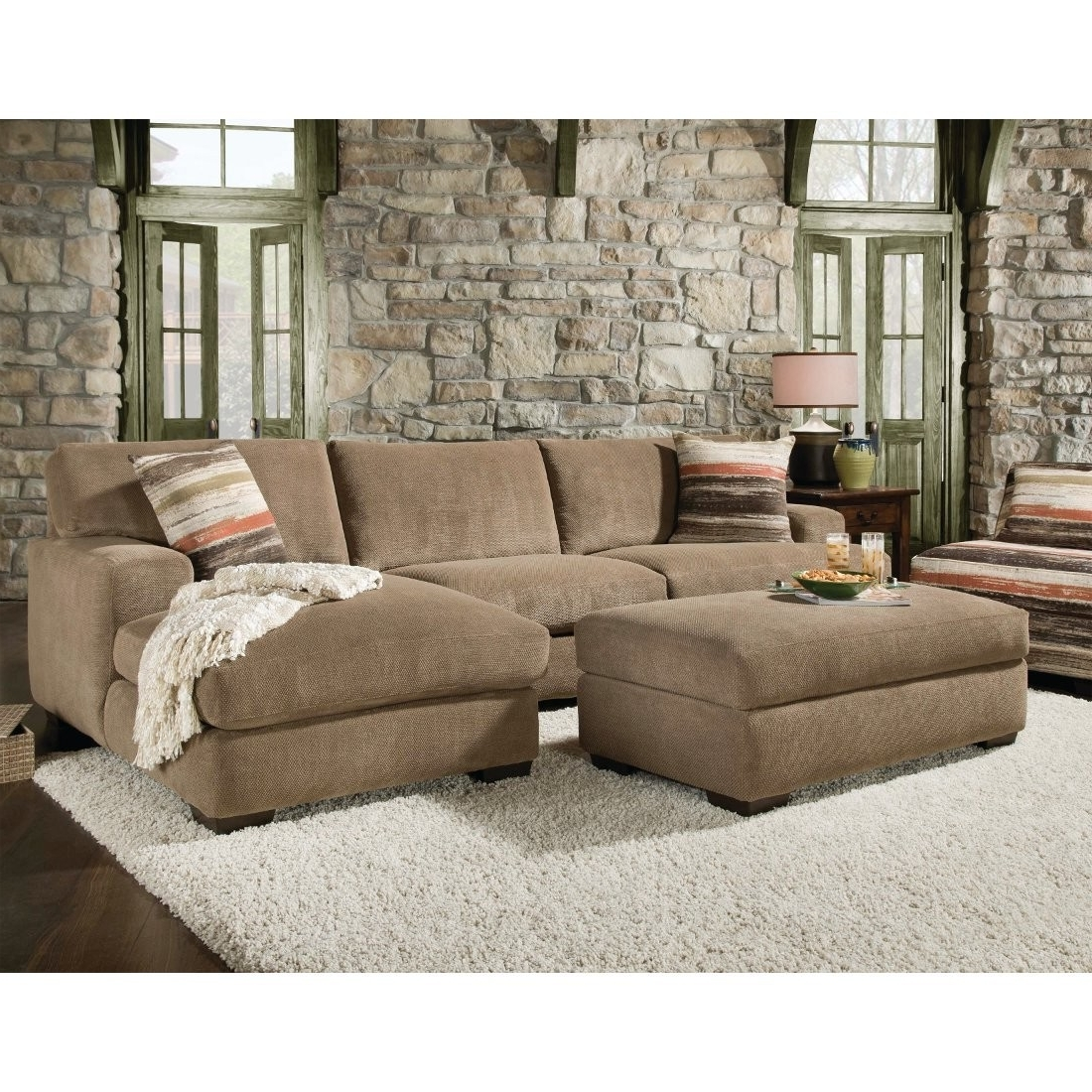 2019 Beautiful Sectional Sofa With Chaise And Ottoman Pictures In Sectional Couches With Large Ottoman (View 2 of 20)