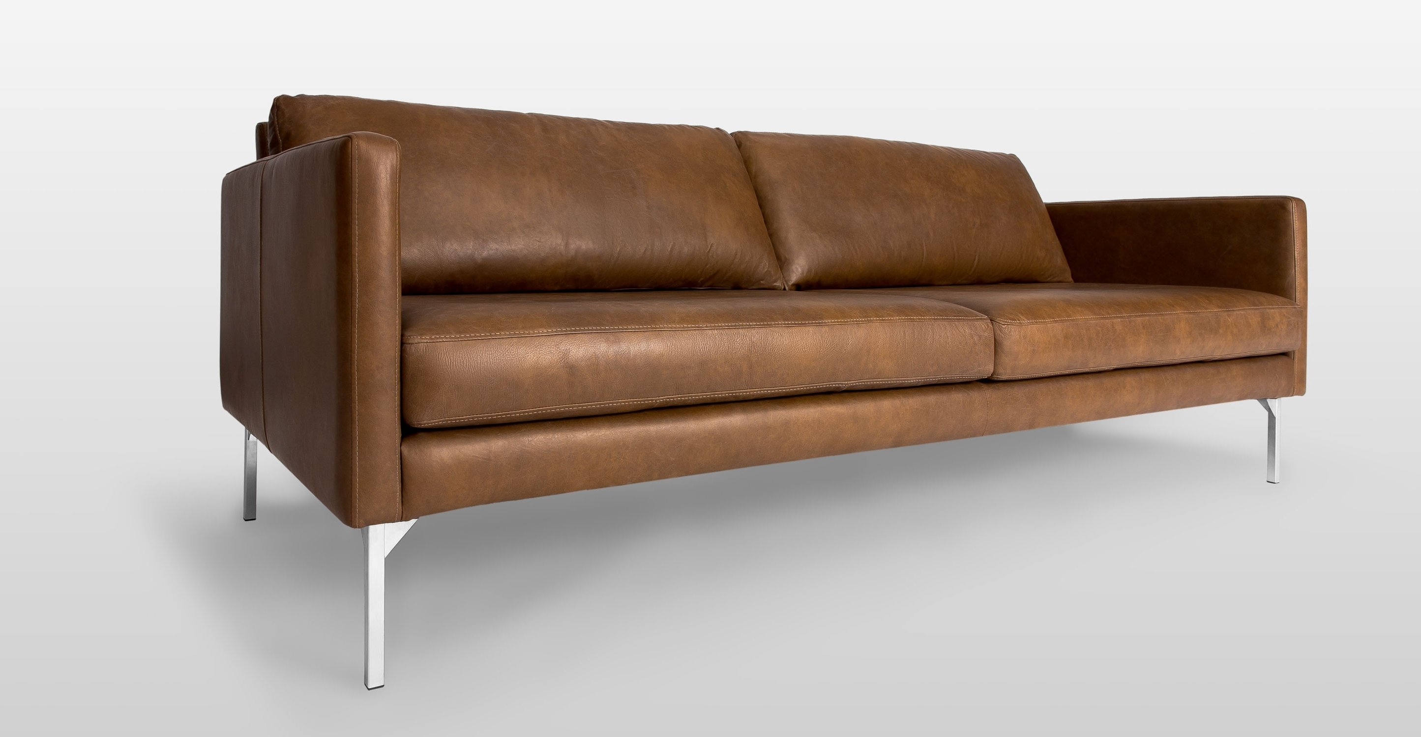 2019 Brown Leather Sofa With Metal Legs (View 15 of 20)