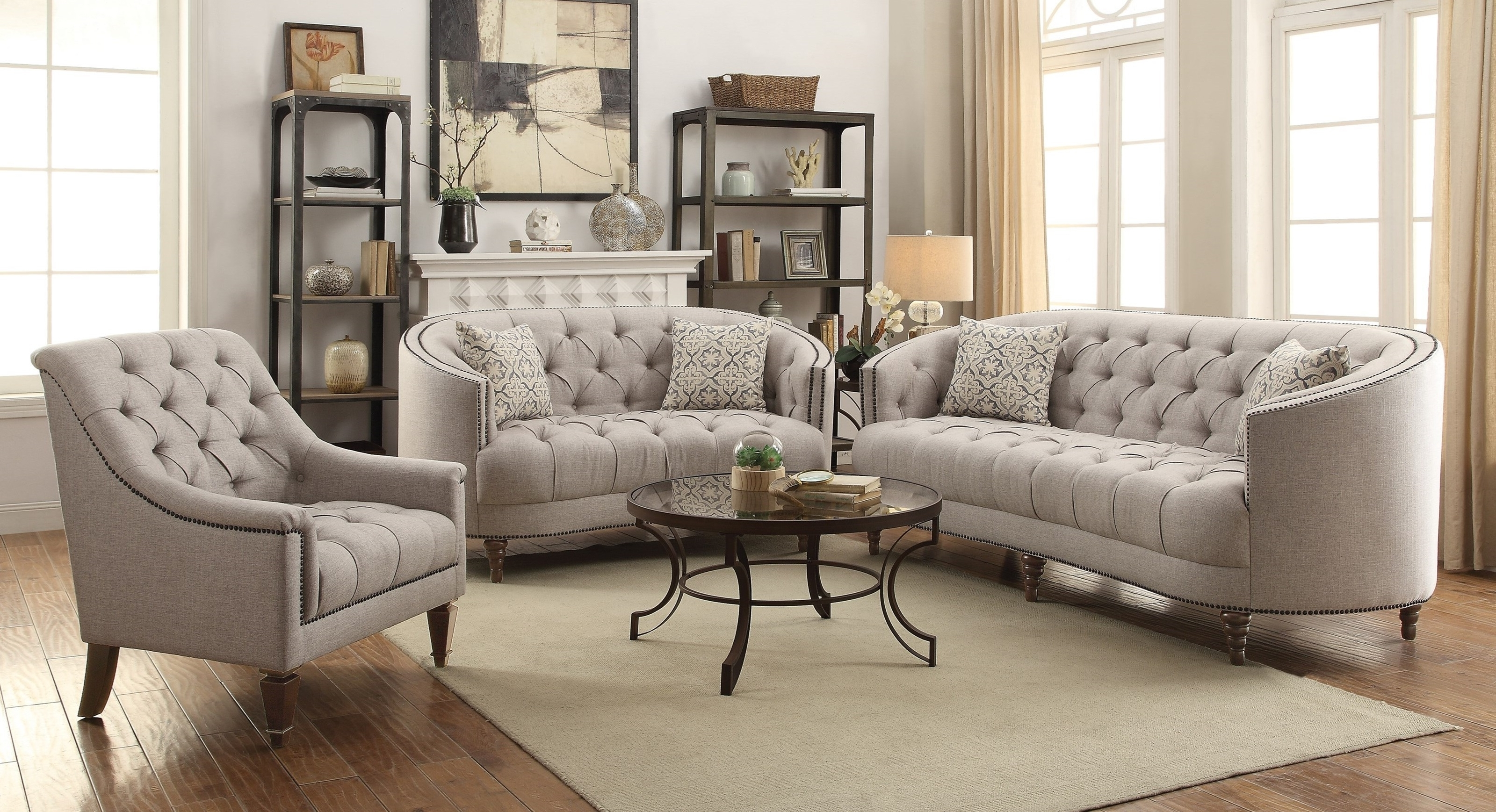 2019 C Shaped Sofas In Avonlea Sofa And Chair Set –  (View 1 of 20)