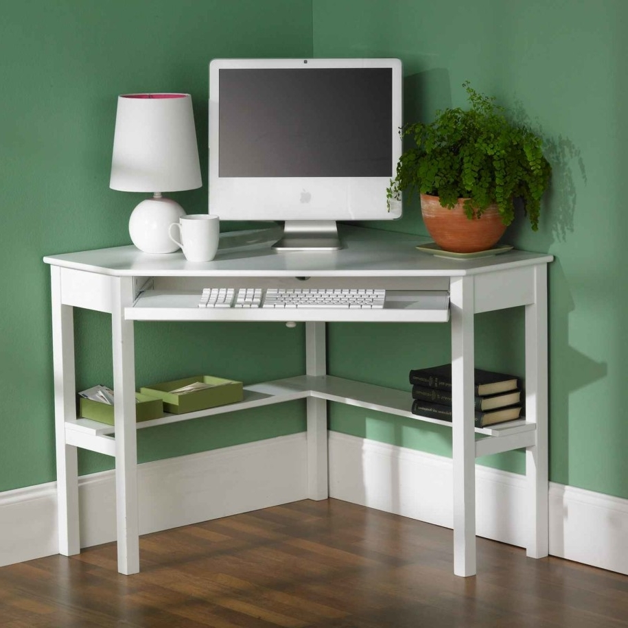 2019 Computer Desks Target In Small Computer Desks Target With White Wooden Classic Design Idea (View 1 of 20)