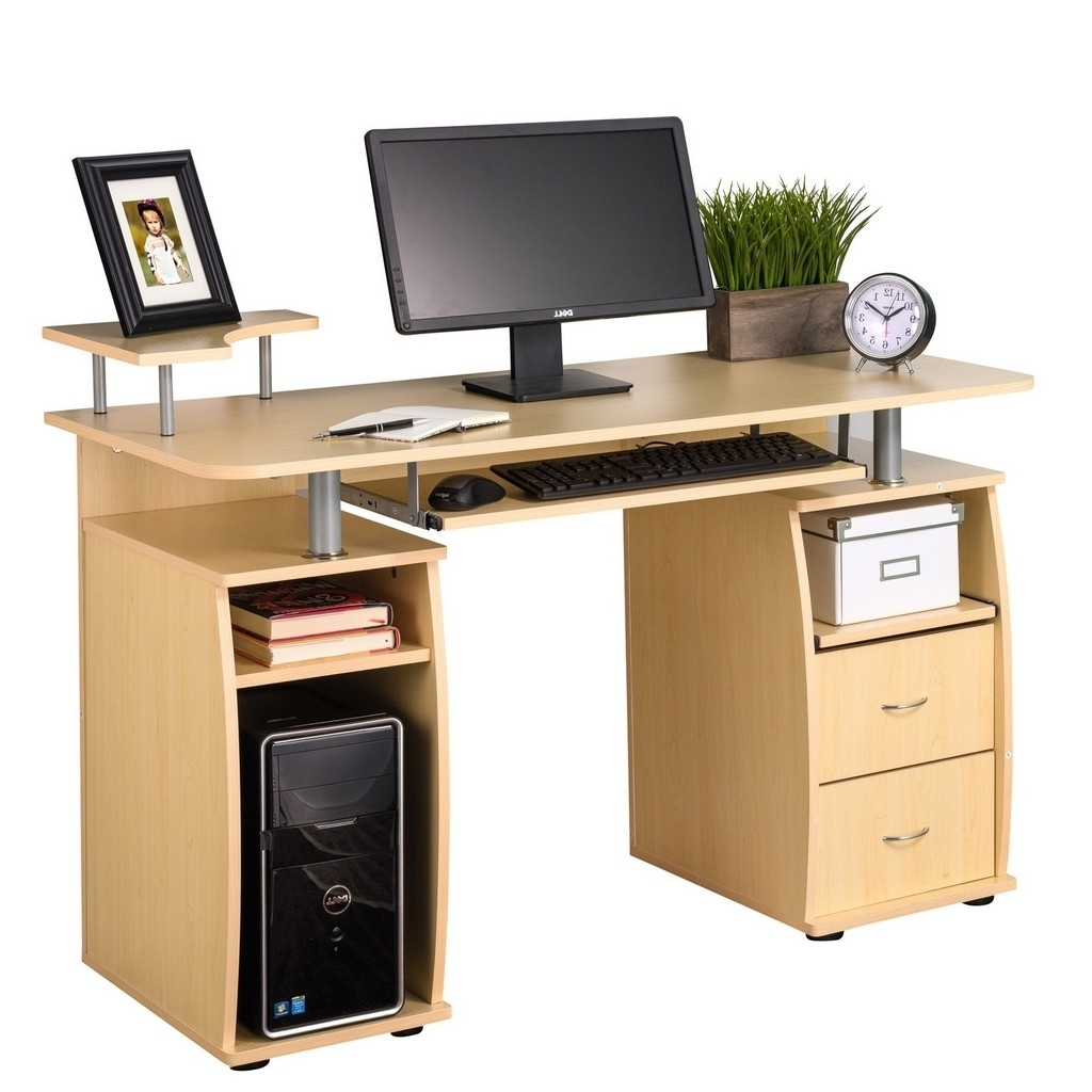 2019 Desk : Oak Corner Desk With Hutch Small Computer Desks For Small With Regard To Enclosed Computer Desks (View 3 of 20)