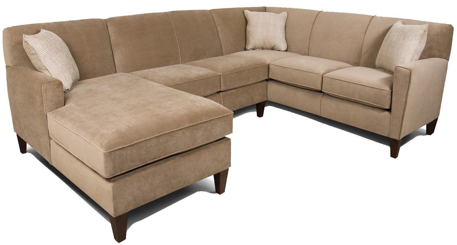 2019 England Collegedale Contemporary 3 Piece Sectional Sofa With Raf In England Sectional Sofas (View 2 of 20)