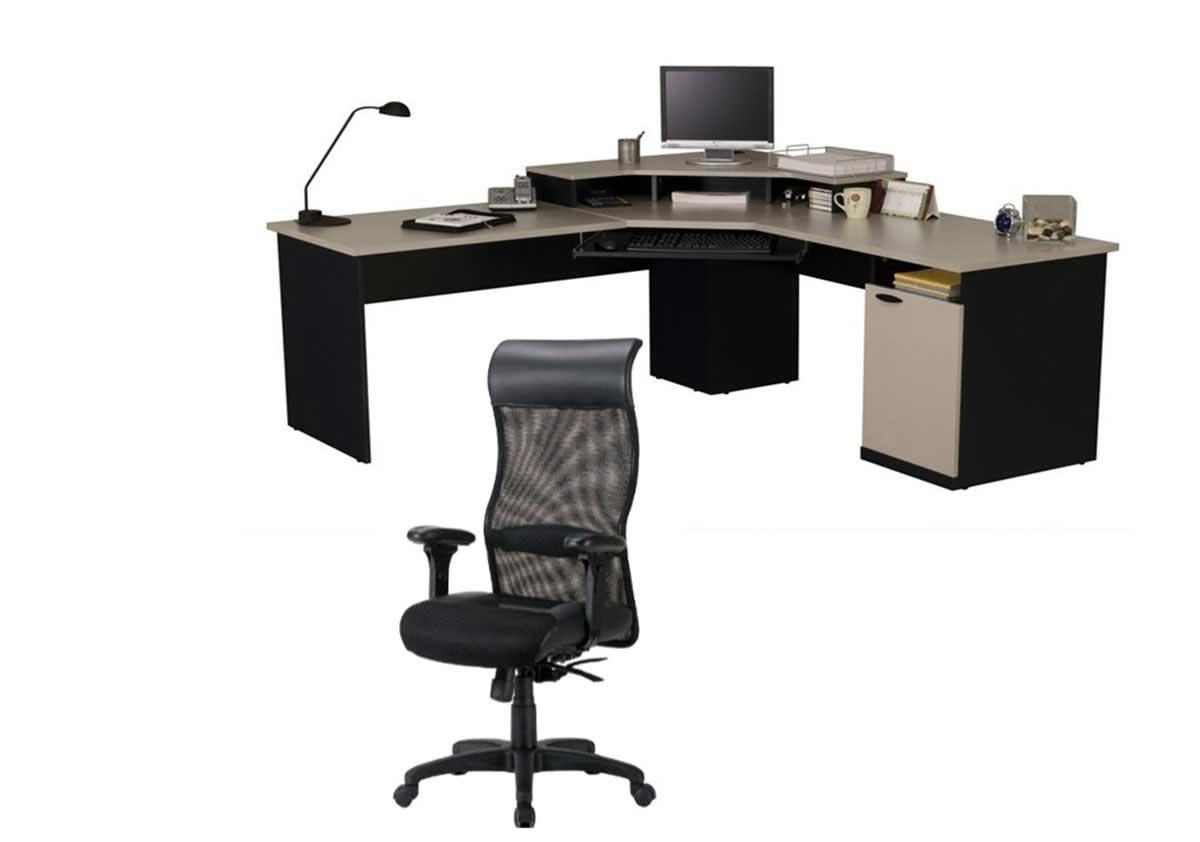 2019 Ergonomic Computer Desks Regarding Furniture: Corner Ergonomic Desk And Chair For Computer Desk With (View 6 of 20)