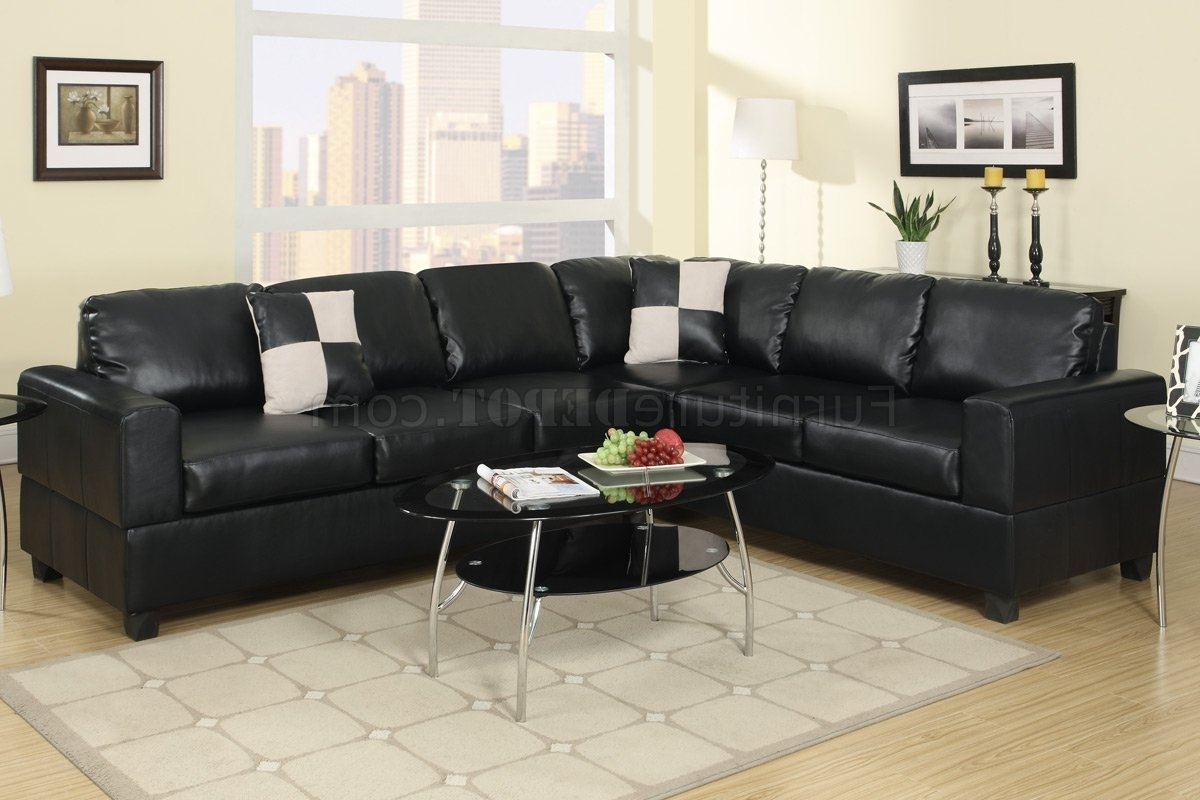 2019 F7630 Sectional Sofa In Black Faux Leatherpoundex With Faux Leather Sectional Sofas (View 2 of 20)
