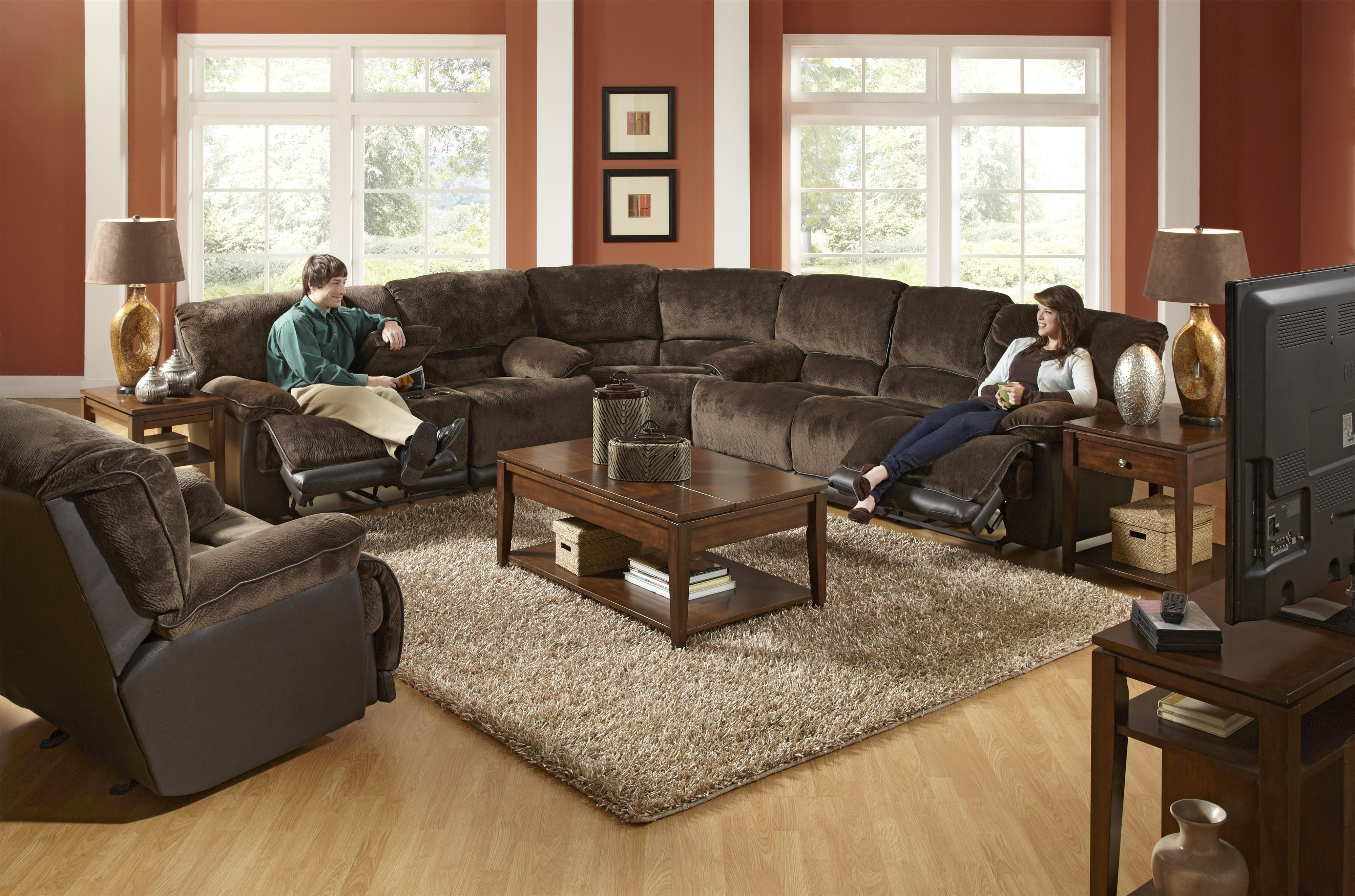 2019 Farmers Furniture Sectional Sofas Within A Reclining Sectional In The Transitional Style! Catnapper (View 1 of 20)