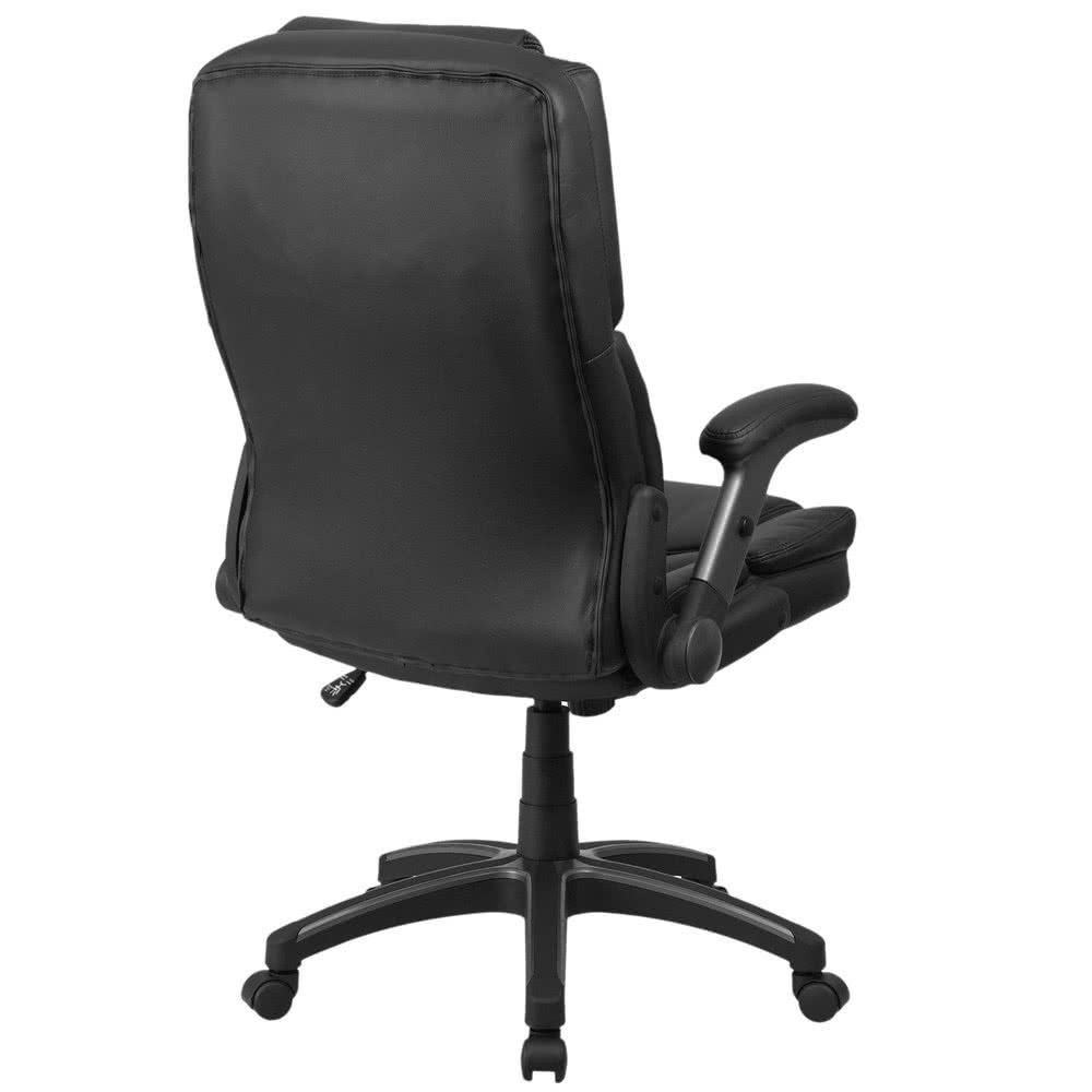 2019 Flash Furniture Bt 90275H Gg High Back Black Leather Executive Within Executive Office Chairs With Back Support (View 2 of 20)