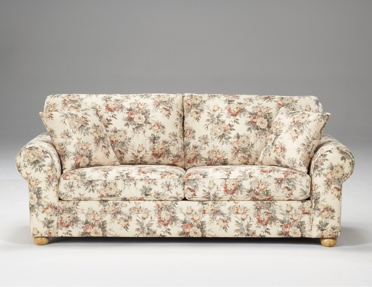 2019 Floral Sofas And Chairs Within Pattern Fabric Traditional Sofa U0026  Loveseat Set (View 1