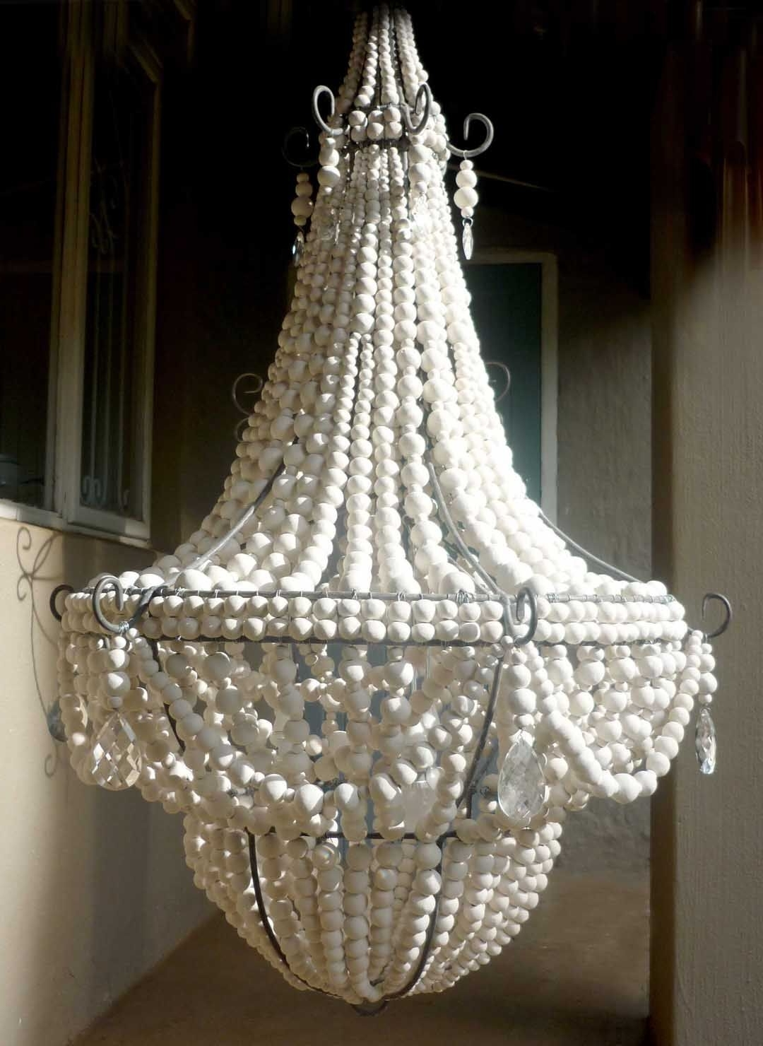 2019 Gorgeous Wood Bead Chandelier For Lighting Ideas: Empire Style For Turquoise Wood Bead Chandeliers (View 2 of 20)