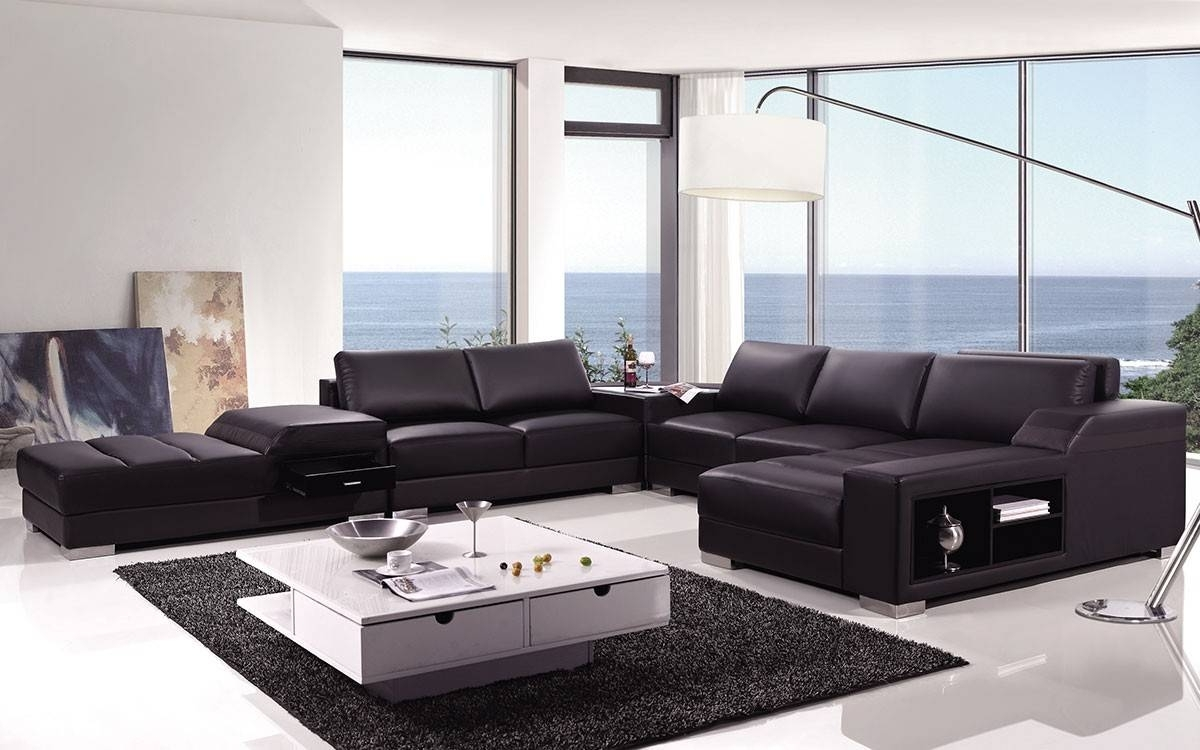 2019 High End Covered In Bonded Leather Sectional Philadelphia With High End Sectional Sofas (View 4 of 20)