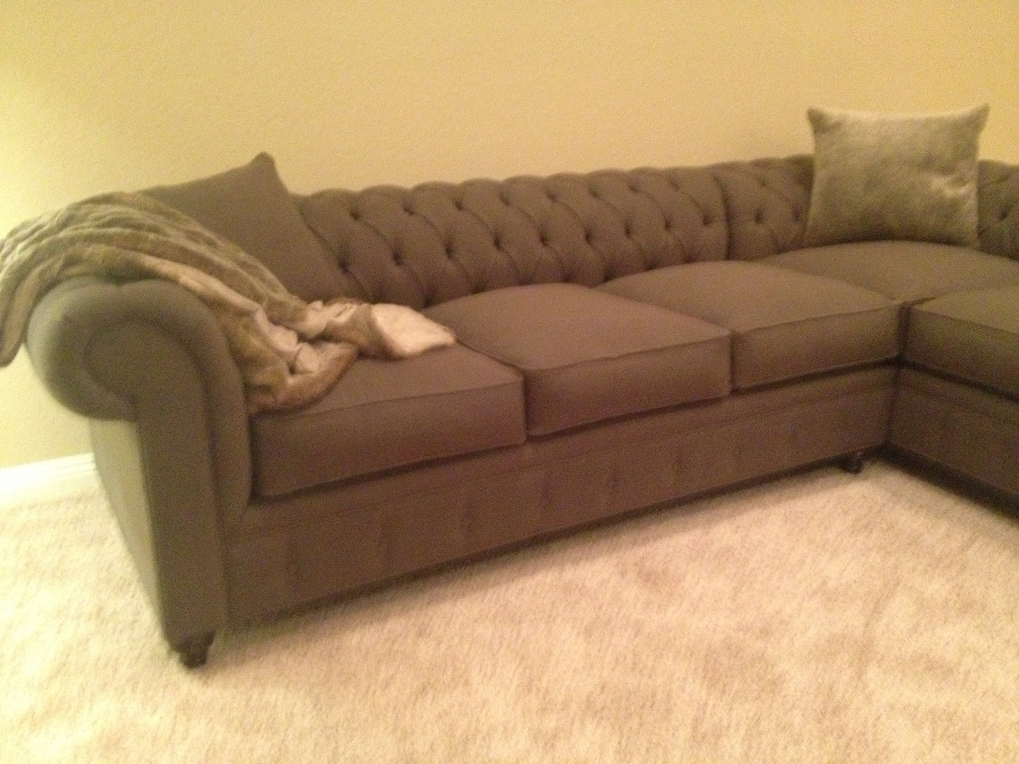 2019 Houzz Sectional Sofas Inside Kenzie Style ! Custom Chesterfield Sofa Or Sectional (View 2 of 20)