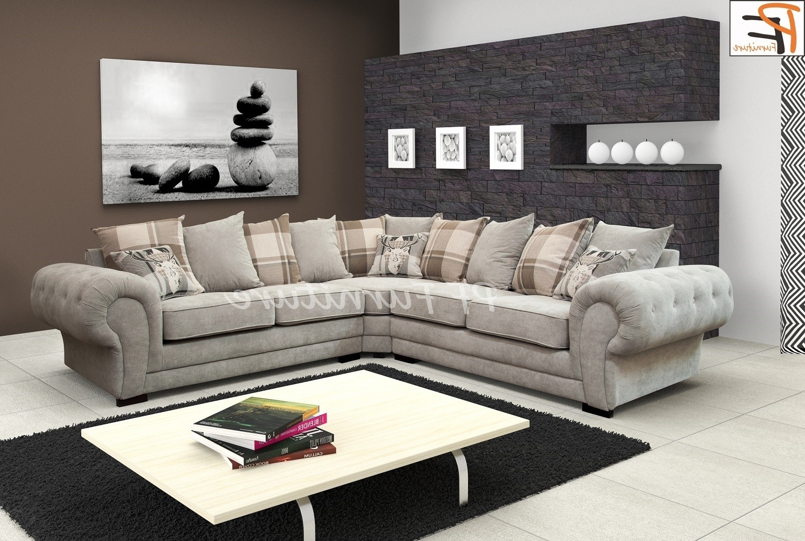 2019 How To Decorate Your Living Room With Fabric Corner Sofa Pertaining To Fabric Corner Sofas (View 2 of 20)