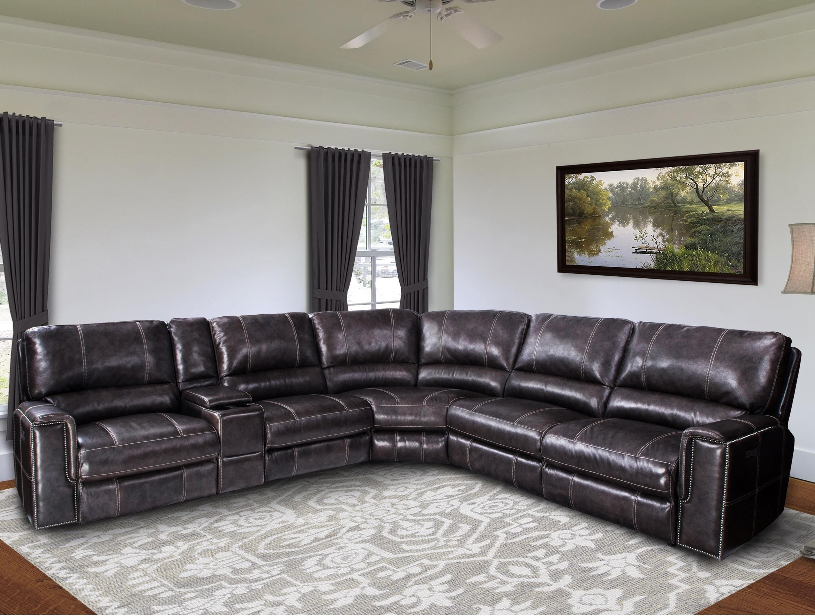 2019 Jerome Casual Power Reclining Sectional Sofa With Power Headrests With Jerome's Sectional Sofas (View 5 of 20)