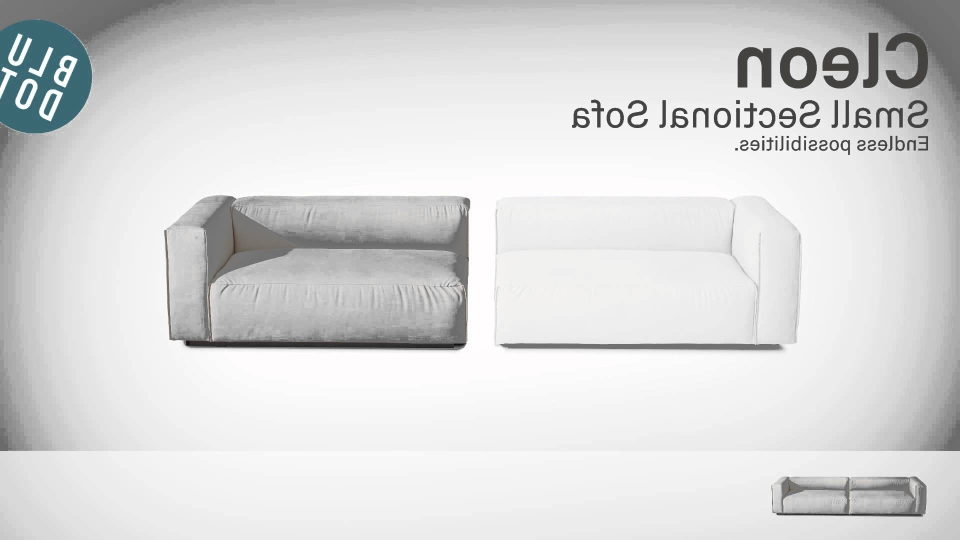 2019 Johnny Janosik Sectional Sofas Pertaining To Cleon Small Sectional Sofablu Dot – Youtube (View 2 of 20)