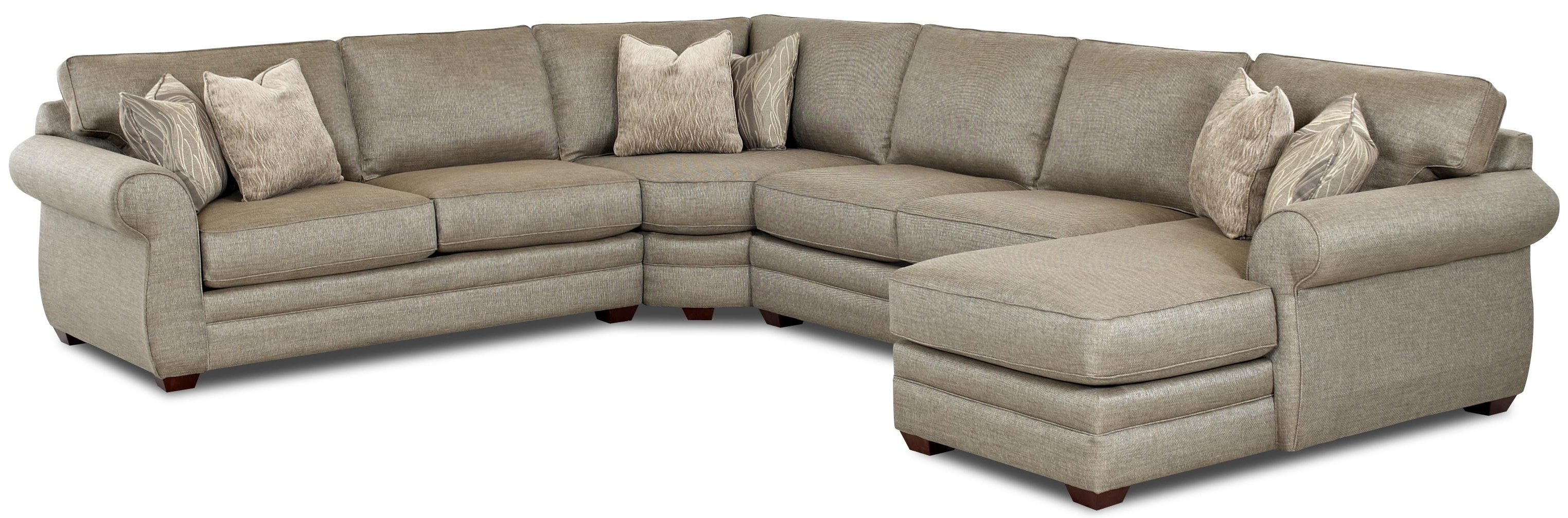 2019 Klaussner Clanton Transitional Sectional Sofa With Left Chaise And Intended For Sleeper Sectional Sofas (View 18 of 20)