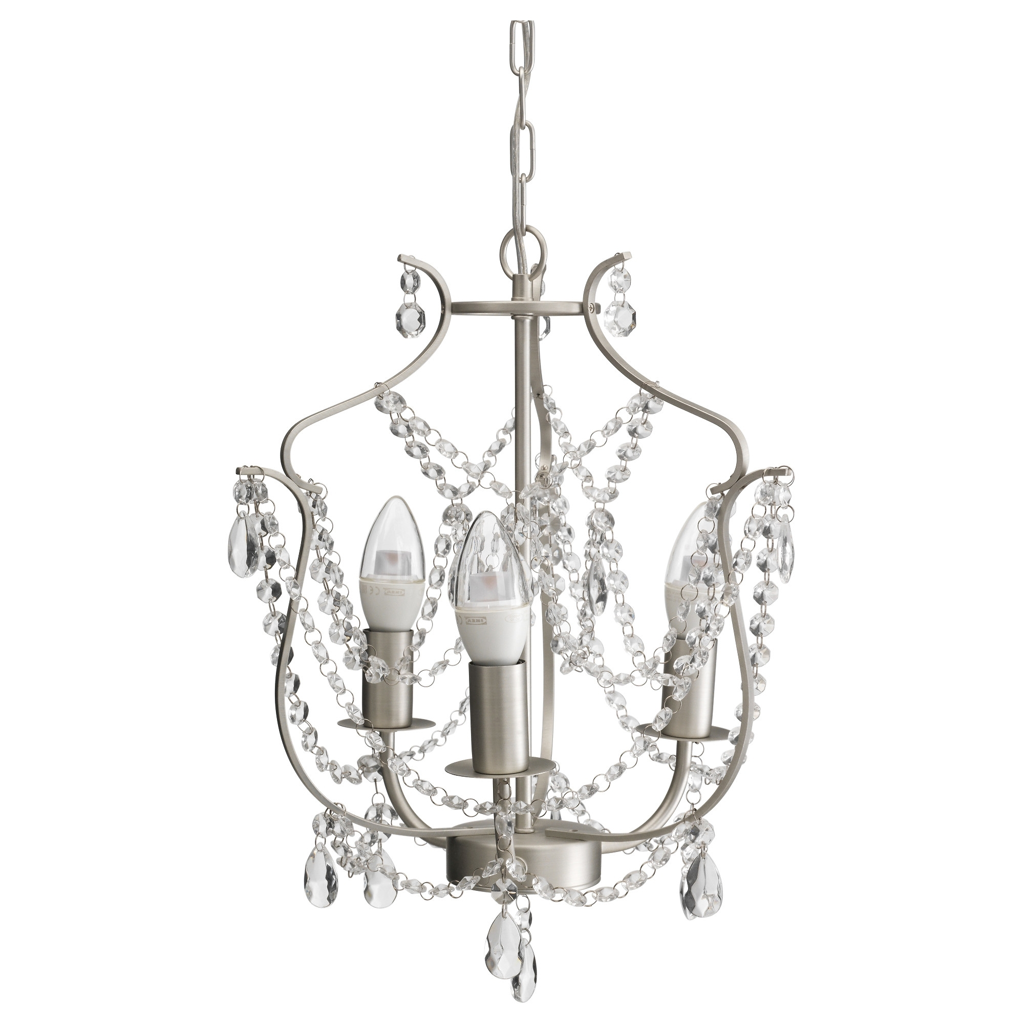 2019 Kristaller Chandelier, 3 Armed – Ikea Regarding Small White Chandeliers (View 2 of 20)