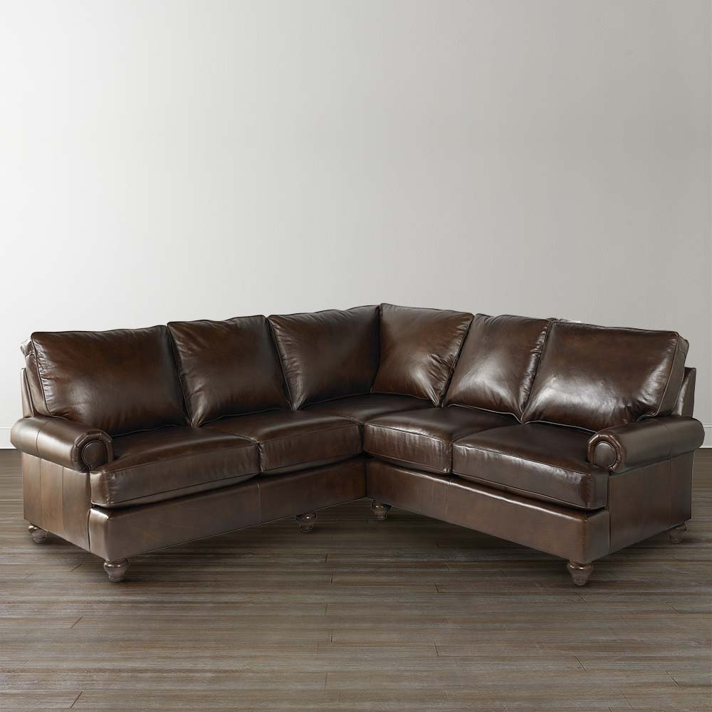 2019 Leather L Shaped Sectional Sofas Intended For Sofa : Alluring Small L Sectional Sofa Couches Leather Sofas Small (View 9 of 20)