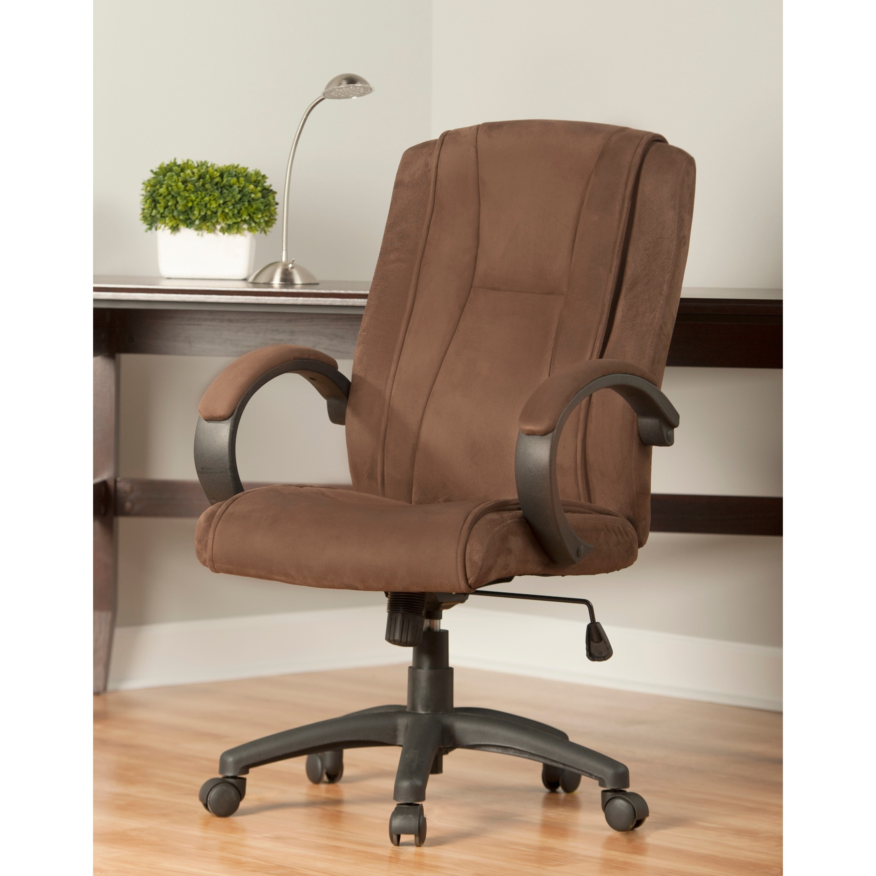 2019 Light Beige Microfiber Executive Office Chairs Regarding Comfort Products Padded Microsuede Office Chair – Free Shipping (View 5 of 20)