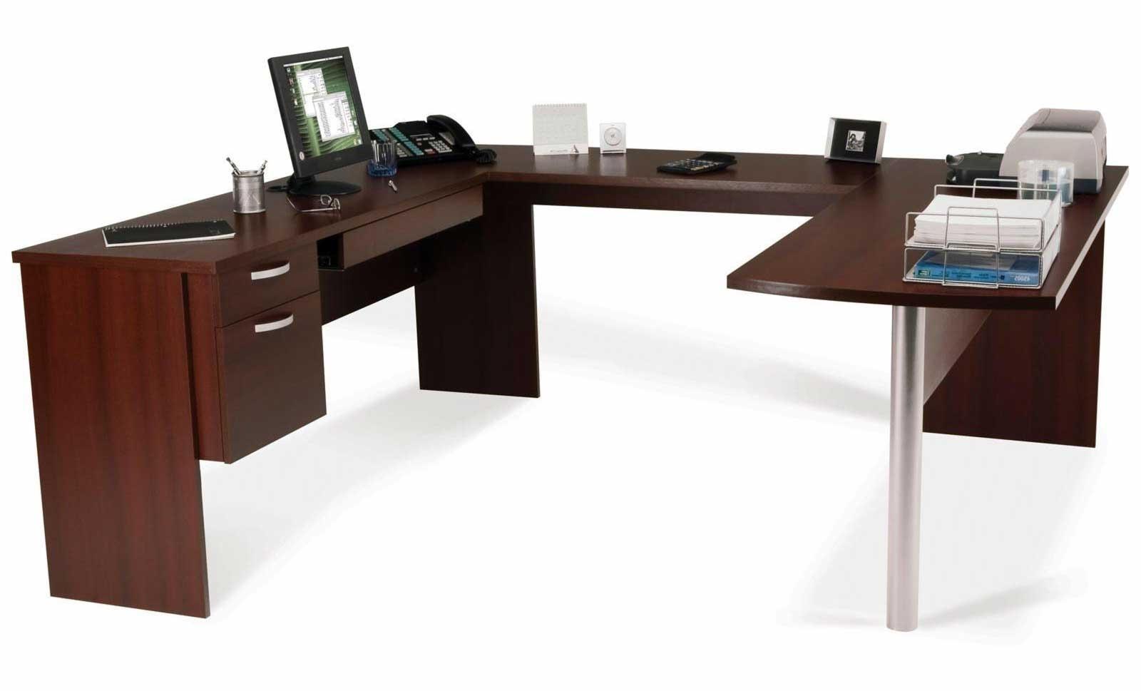 2019 Oak U Shaped Corner Computer Desk — Interior Exterior Homie For U Shaped Computer Desks (View 6 of 20)