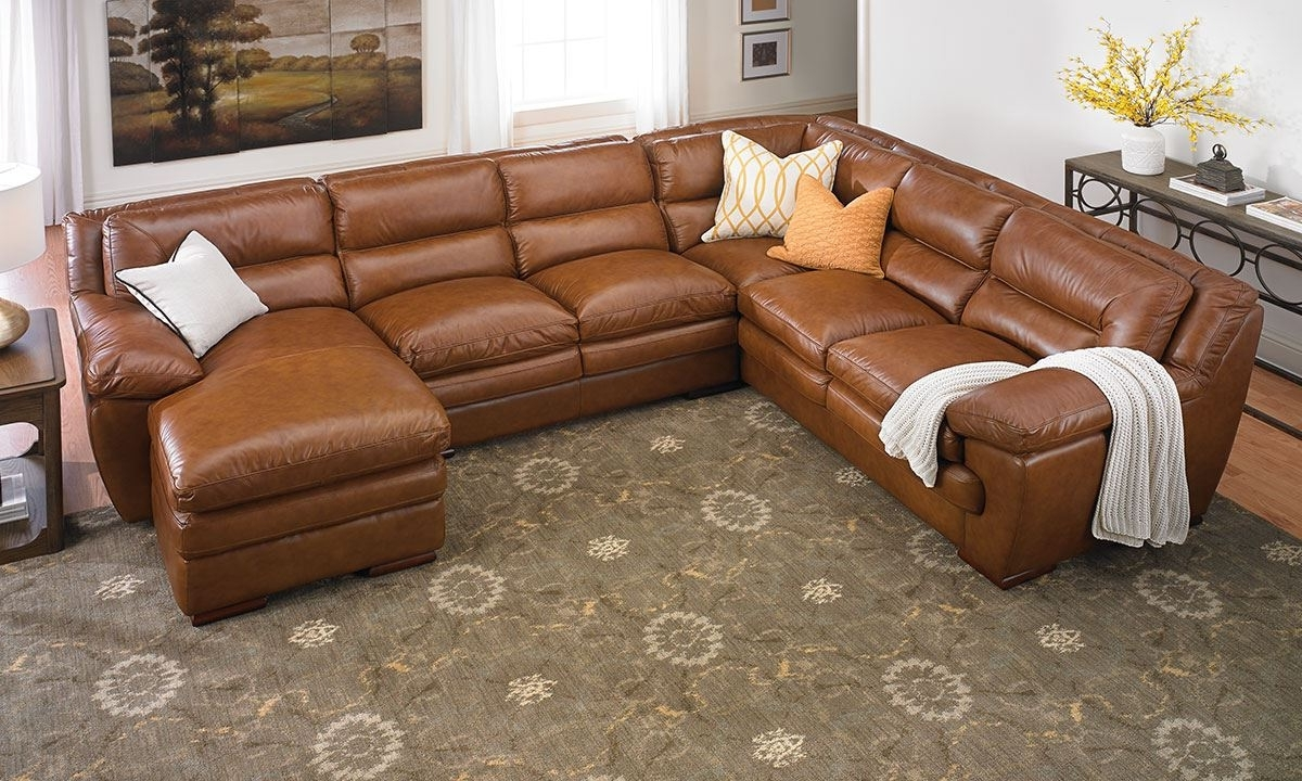 2019 Odyssey Leather Pillowtop Sectional With Chaise (View 1 of 20)