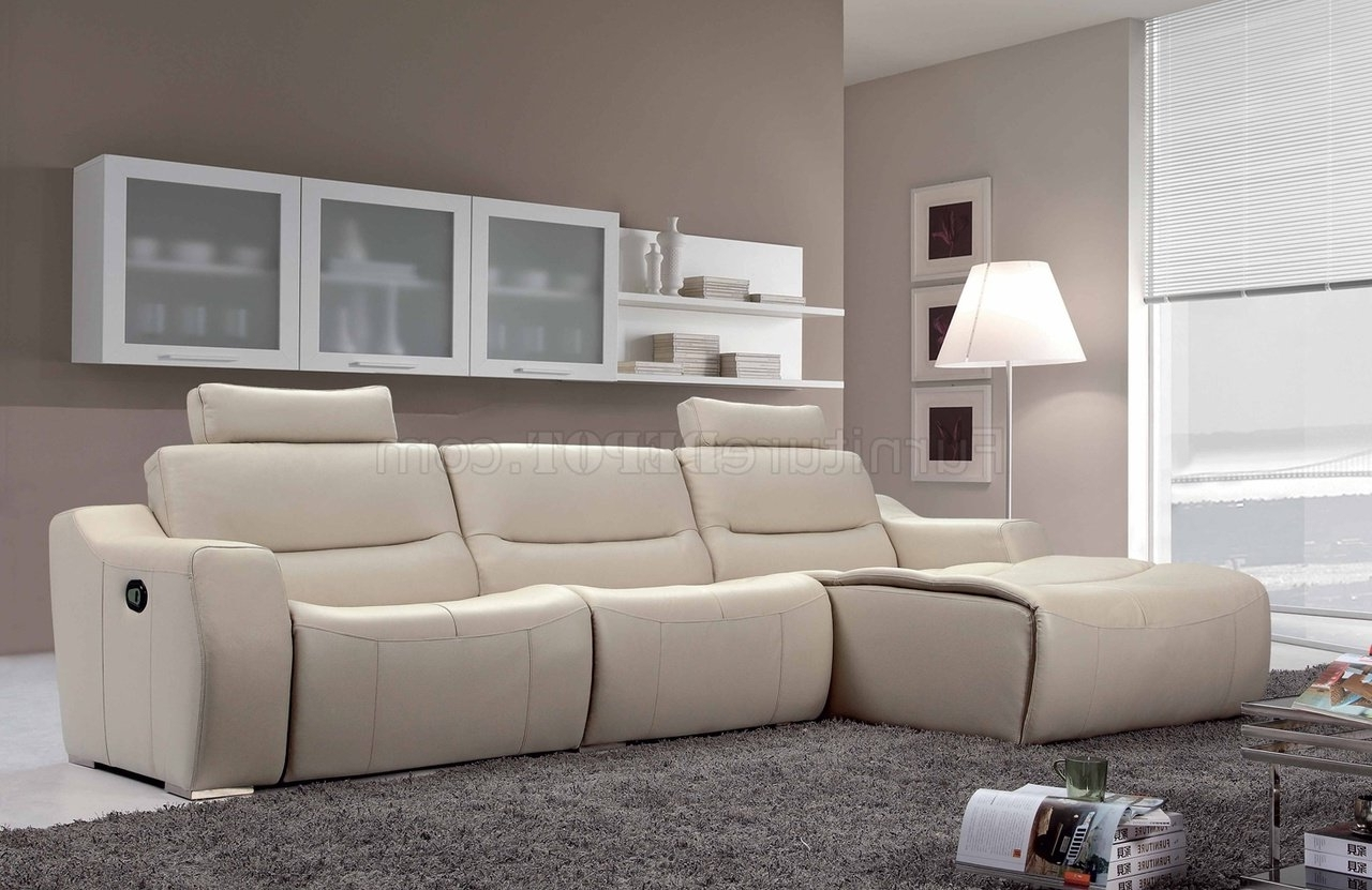 2019 Off White Leather Sofas With Off White Leather 2143 Modern Reclining Sectional Sofaesf (View 4 of 20)