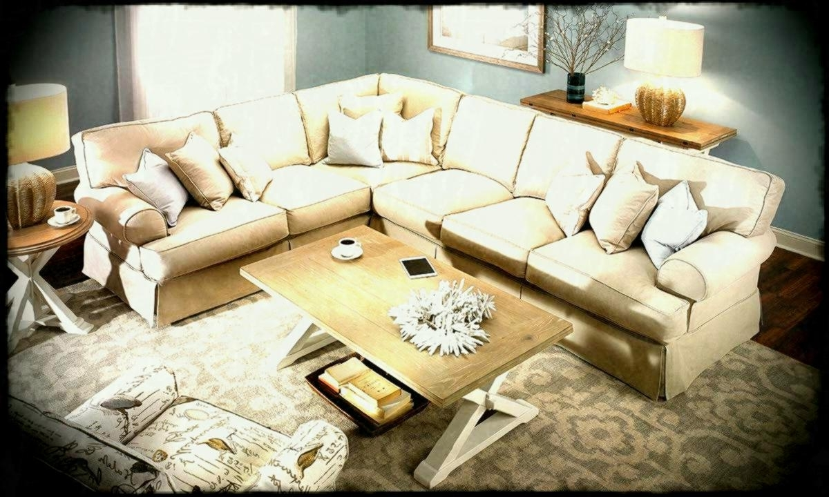 2019 Picture Of Two Lanes Natural Classic Slipcovered Sectional Sofa Pertaining To Haynes Sectional Sofas (View 20 of 20)