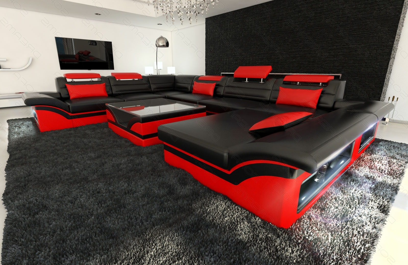 2019 Red And Black Sectional Sofa – Hotelsbacau Throughout Red Black Sectional Sofas (View 1 of 20)