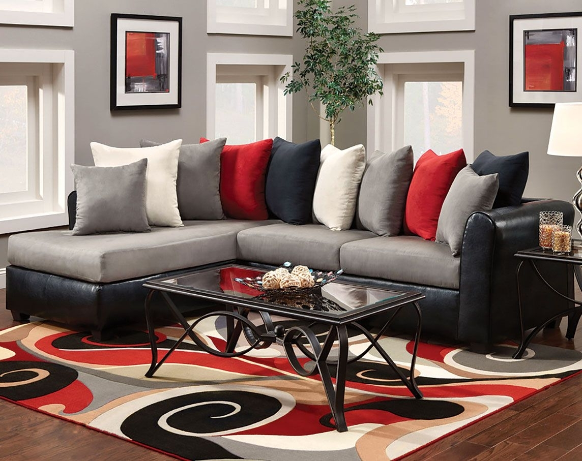 2019 Red Black Sectional Sofas With Chelsea Home Furniture 476700 Sec Vb Corianne 2 Piece Sectional (View 11 of 20)