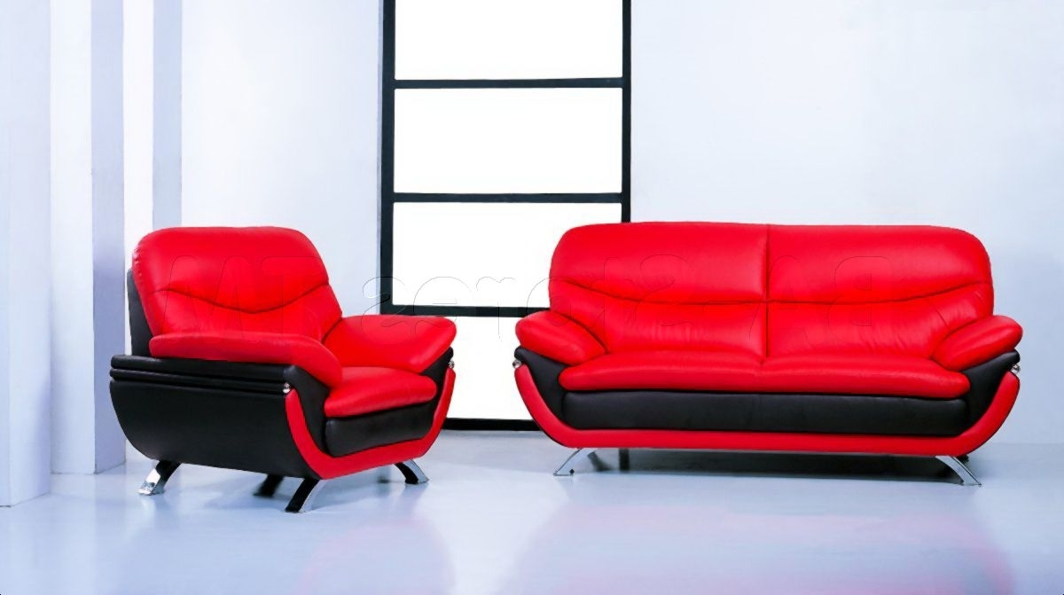 2019 Red Leather Couches And Loveseats Intended For Cool Red Leather Sofa Set , Epic Red Leather Sofa Set 41 On Sofa (View 3 of 20)