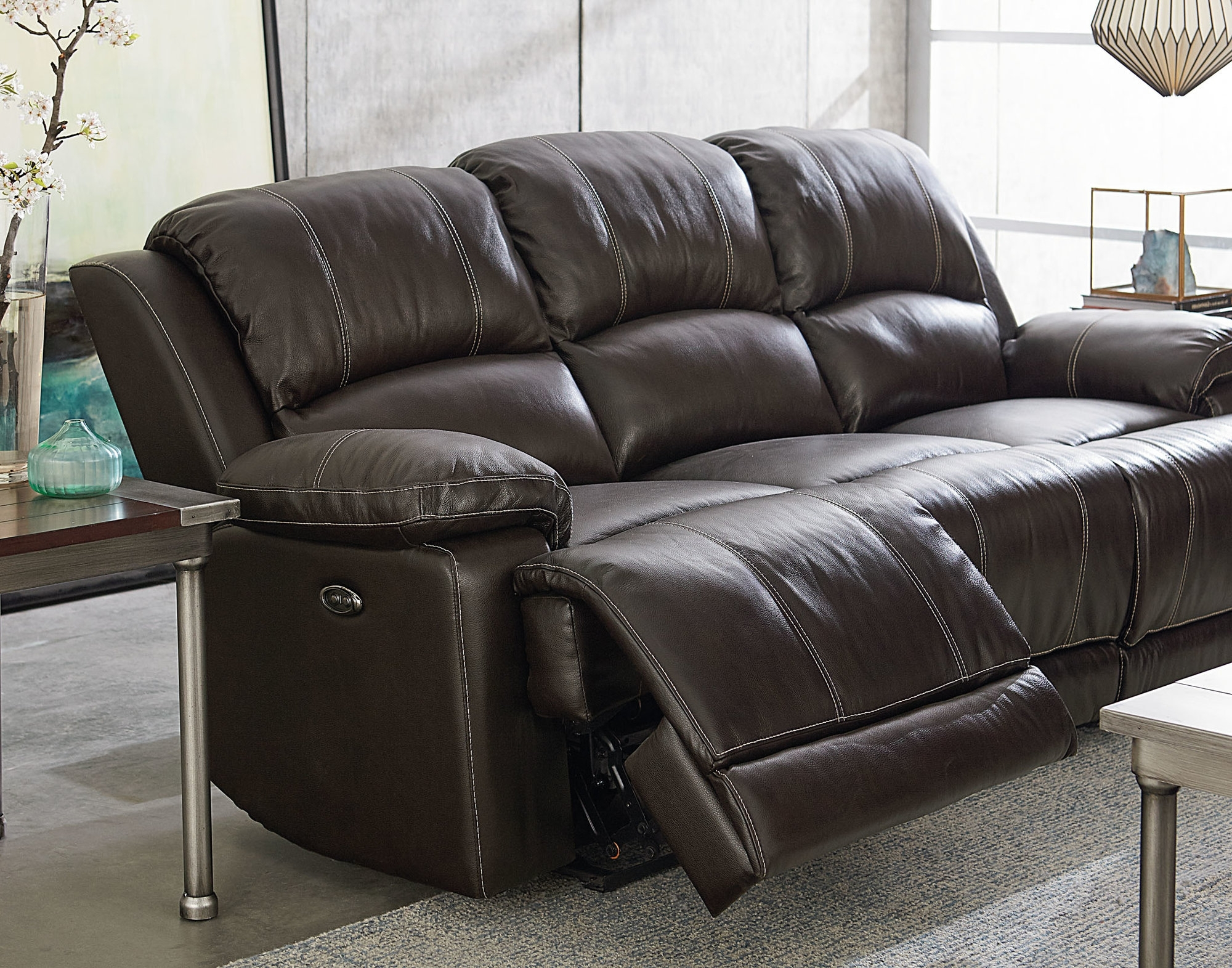 2019 Red Leather Reclining Sofas And Loveseats In Red Barrel Studio Garlock Leather Reclining Sofa (View 15 of 20)