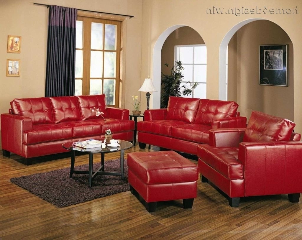 2019 Red Leather Sofa Living Room Ideas • Leather Sofa With Regard To Red Leather Couches For Living Room (View 3 of 20)