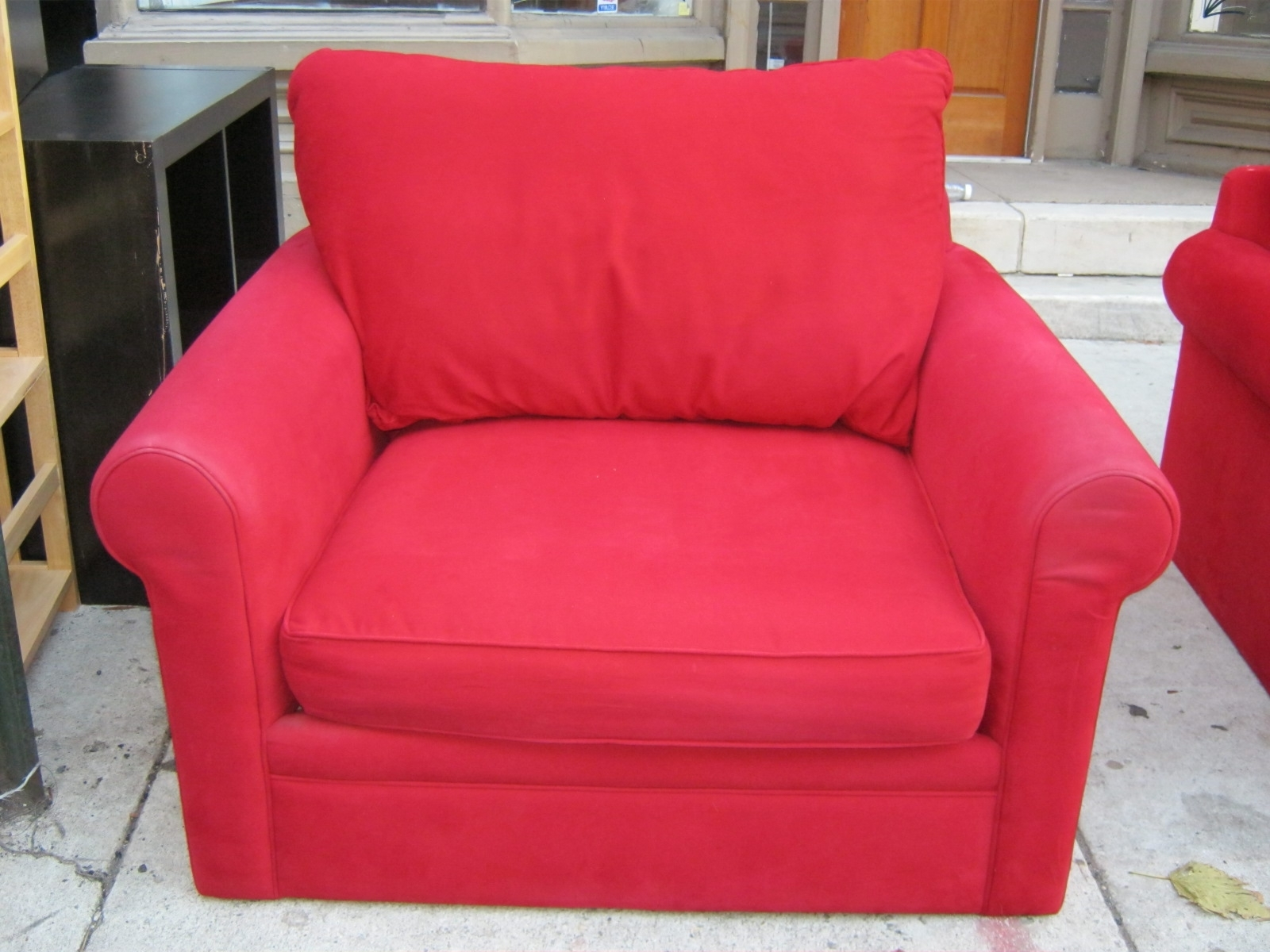 2019 Red Sofa Chairs Regarding Uhuru Furniture & Collectibles: Red Sofa Chair And Ottoman Set Sold (View 1 of 20)