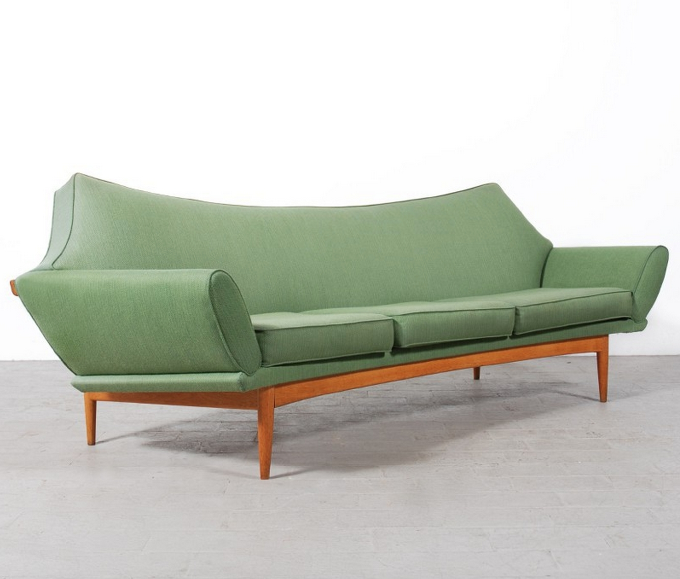 2019 Retro Sofas And Chairs With Regard To Mid Century Retro Vintage Johannes Andersen Teak Sofa Couch Lounge (View 8 of 20)