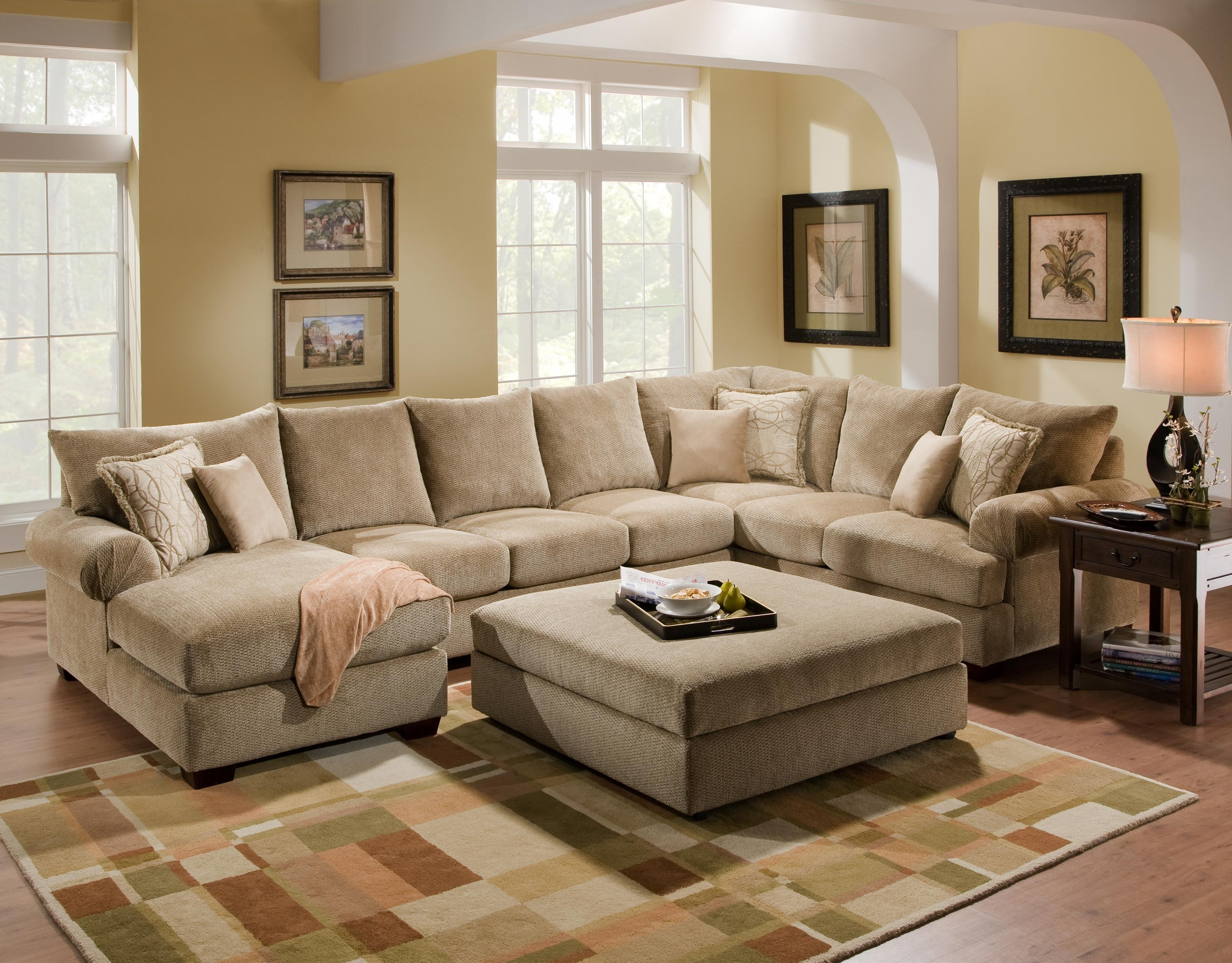 2019 Sams Club Sectional Sofas Pertaining To 4510 Casual Sectional Sofa Group With Chaisecorinthian – Wolf (View 8 of 20)