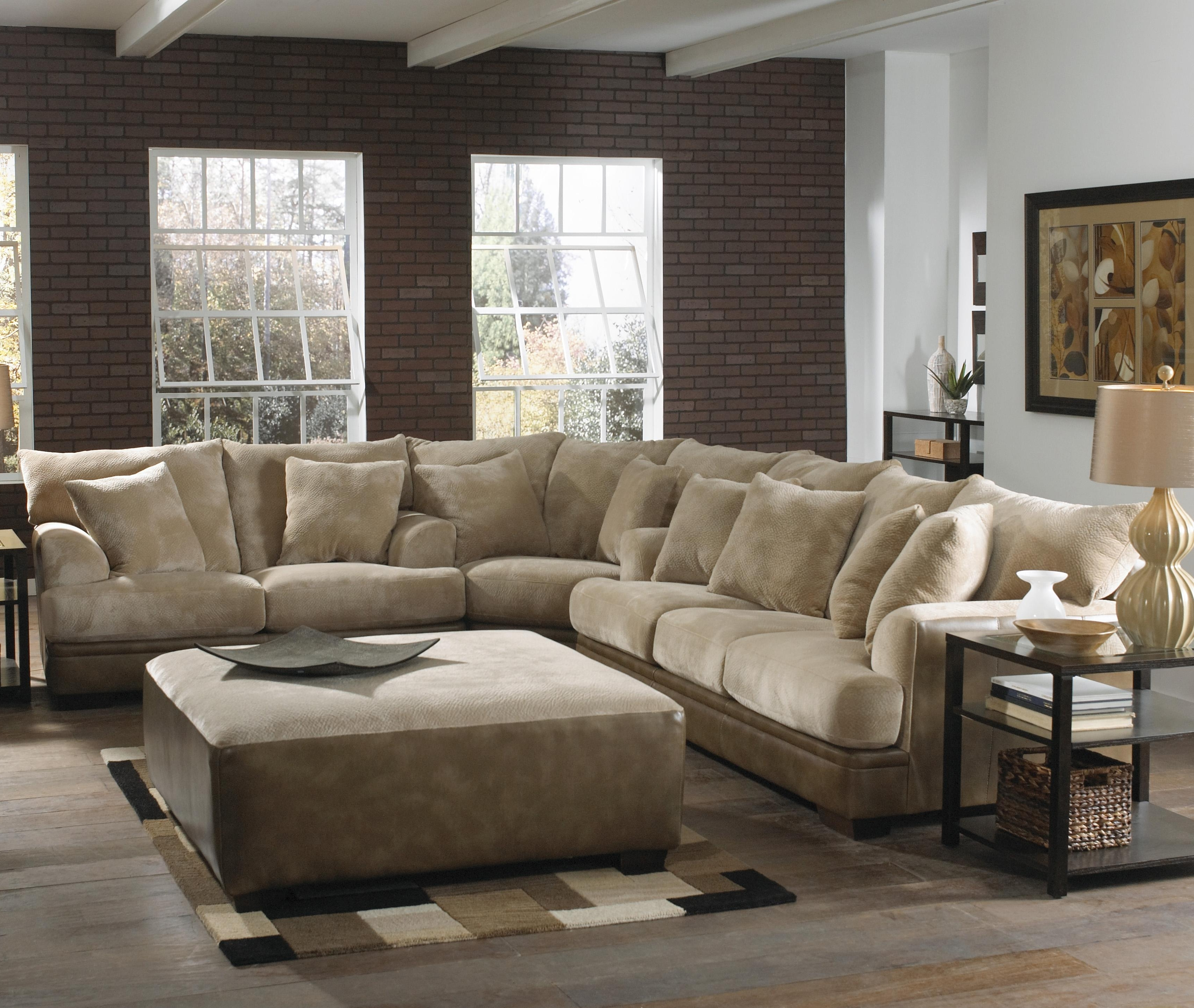 2019 Sectional Sofas At The Brick Within Rustic Wooden Laminate Flooring With Light Brown Sofa Using (View 10 of 20)