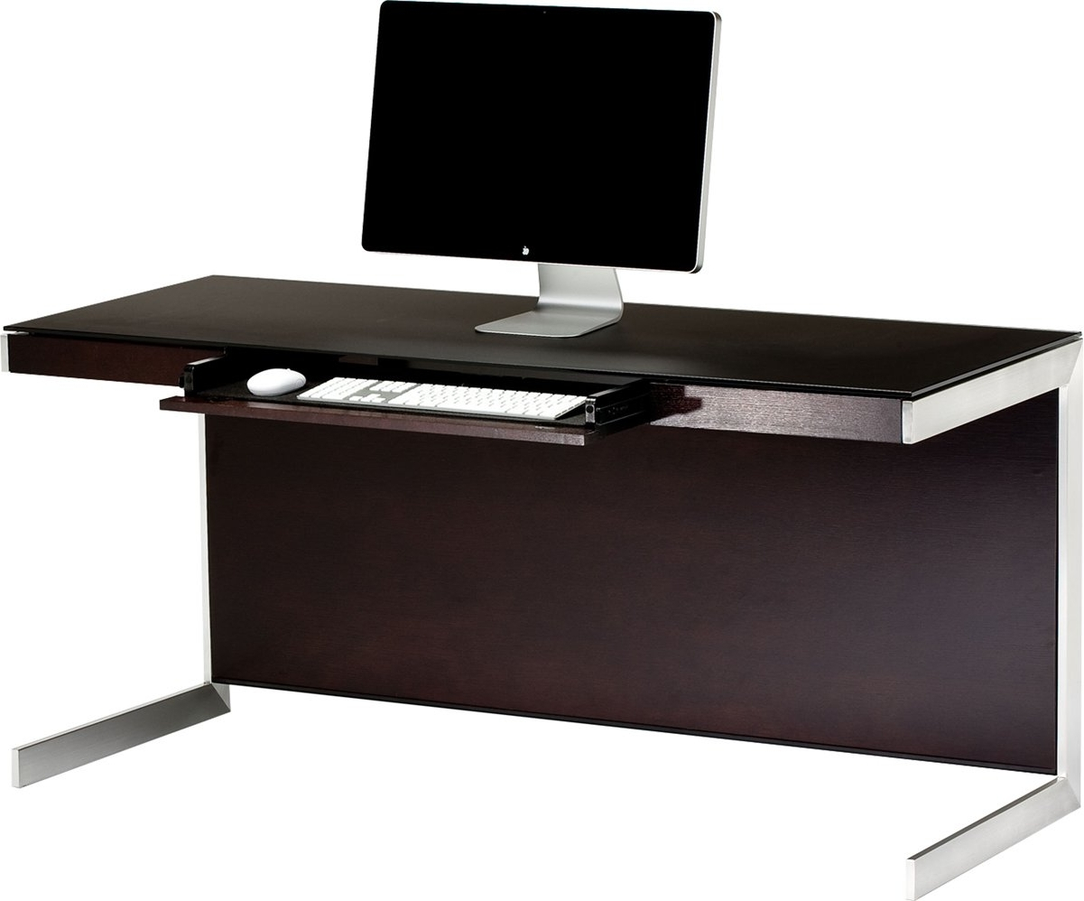 2019 Sequel 6001 Espresso Computer Desk With Regard To Espresso Computer Desks (View 1 of 20)