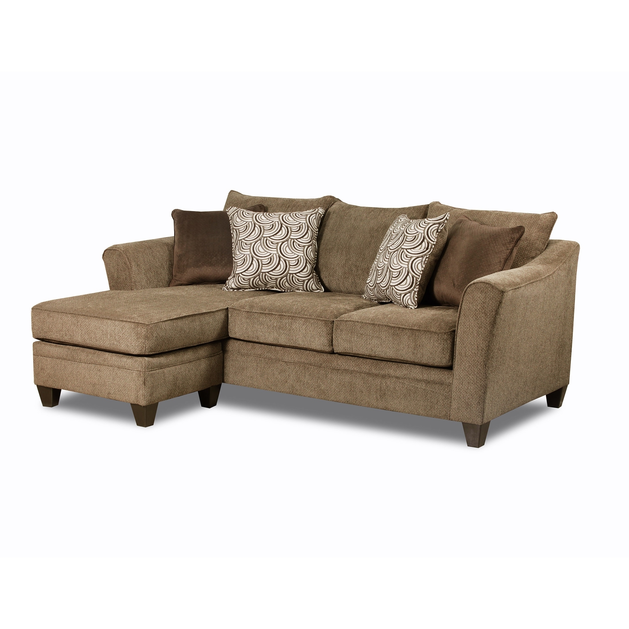 2019 Simmons Chaise Sofas Throughout Simmons Upholstery Albany Truffle Sofa Chaise – Free Shipping (View 3 of 20)