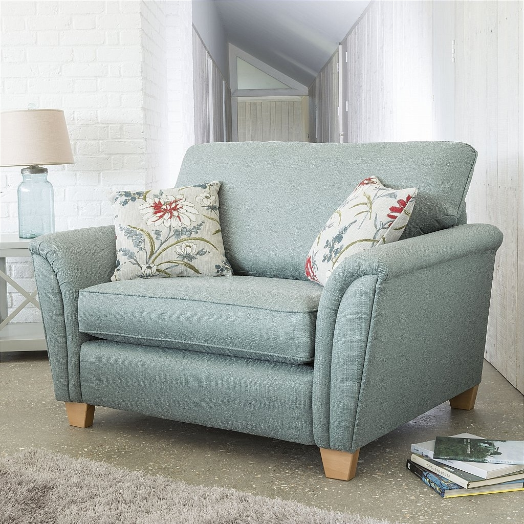 2019 Snuggle Sofas Inside Alstons Upholstery Barcelona Snuggle Chair (View 6 of 20)