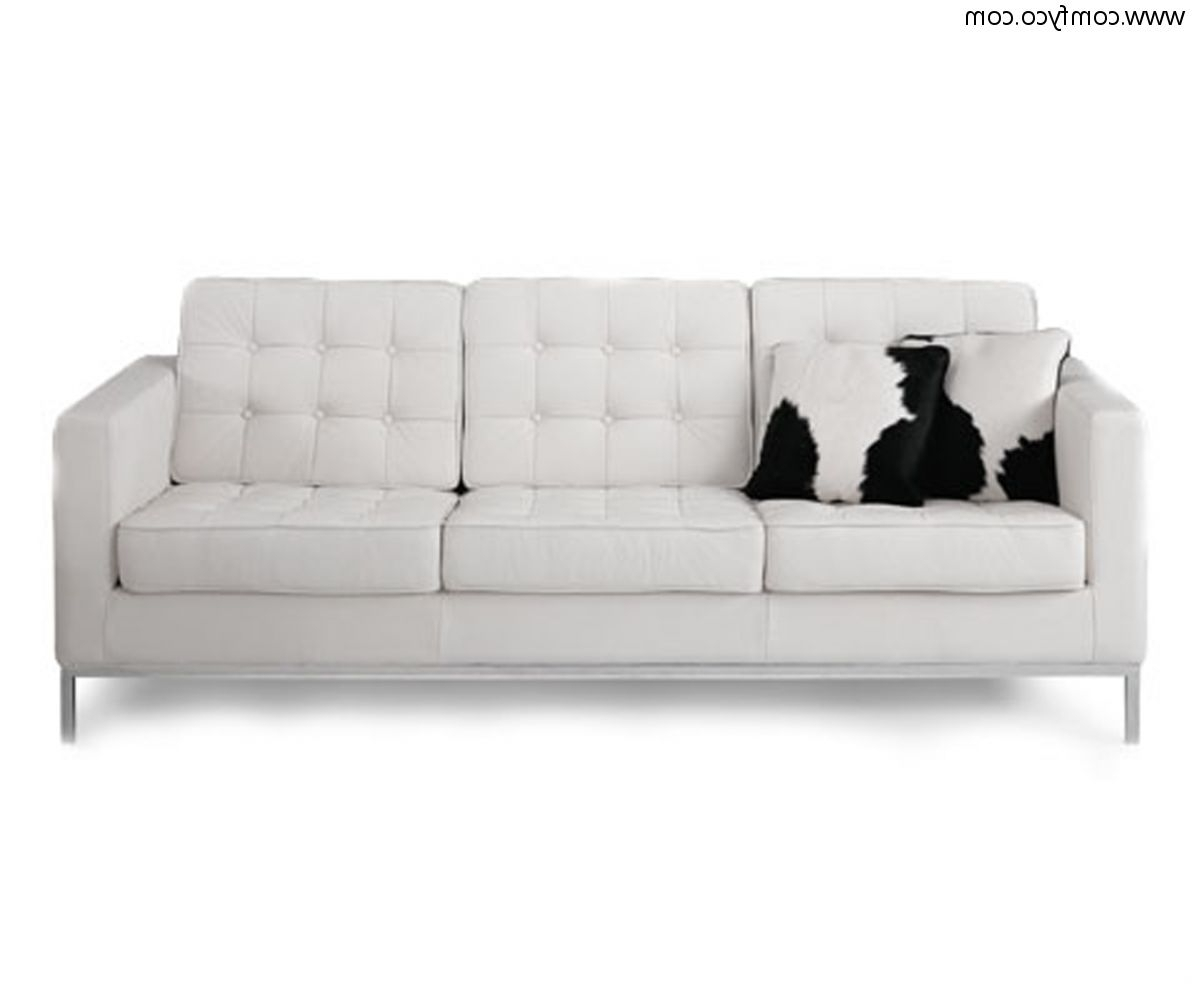 2019 Sofa: Interesting Leather White Sofa Modern Leather Furniture With White Leather Sofas (View 9 of 20)