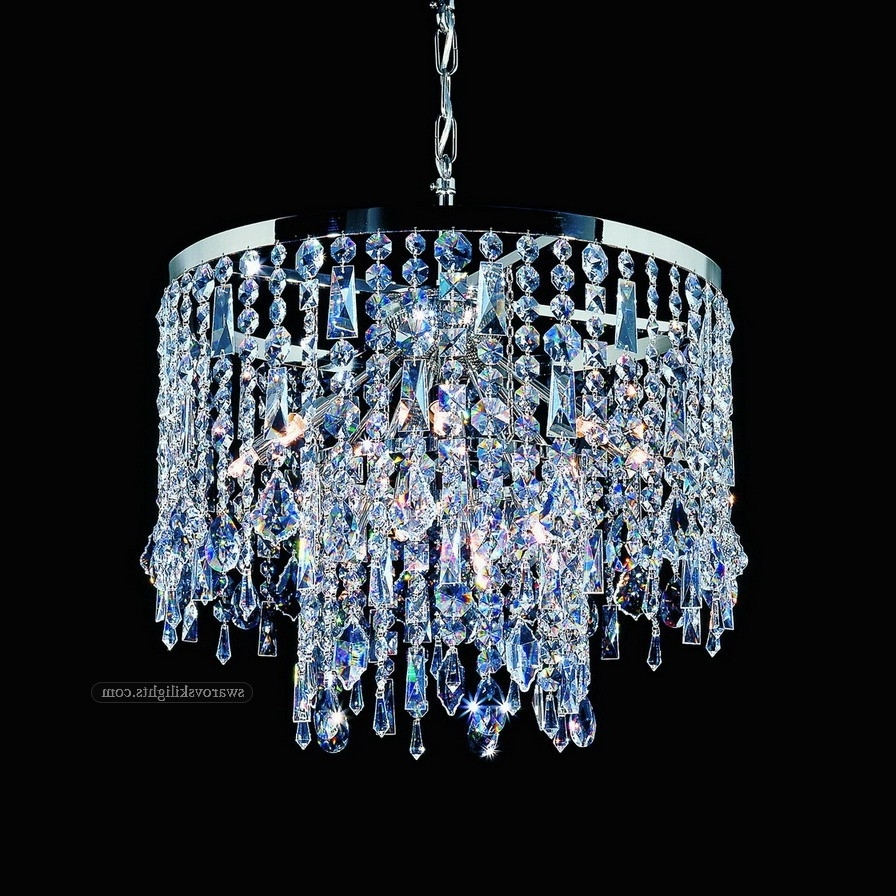 2019 Swarovski Crystal Chandelier Crystalier Earrings Table Lamps For Within Small Crystal Chandelier Table Lamps (View 1 of 20)