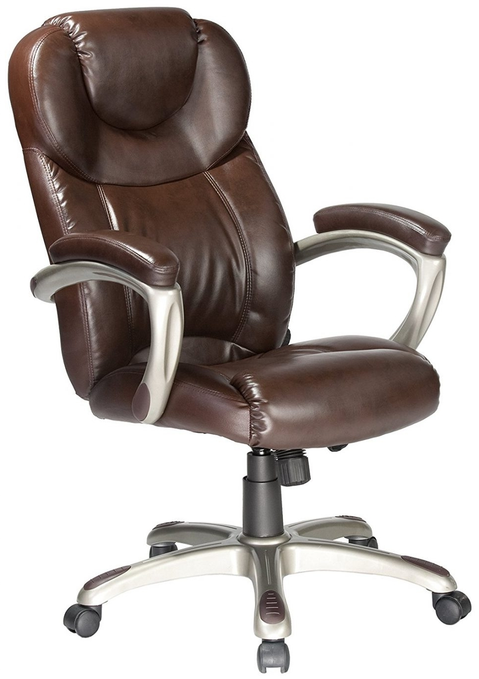 2019 Tan Brown Mid Back Executive Office Chairs Throughout Chair : Brown Leather Office Chair Oversized Chair And A Half (View 5 of 20)