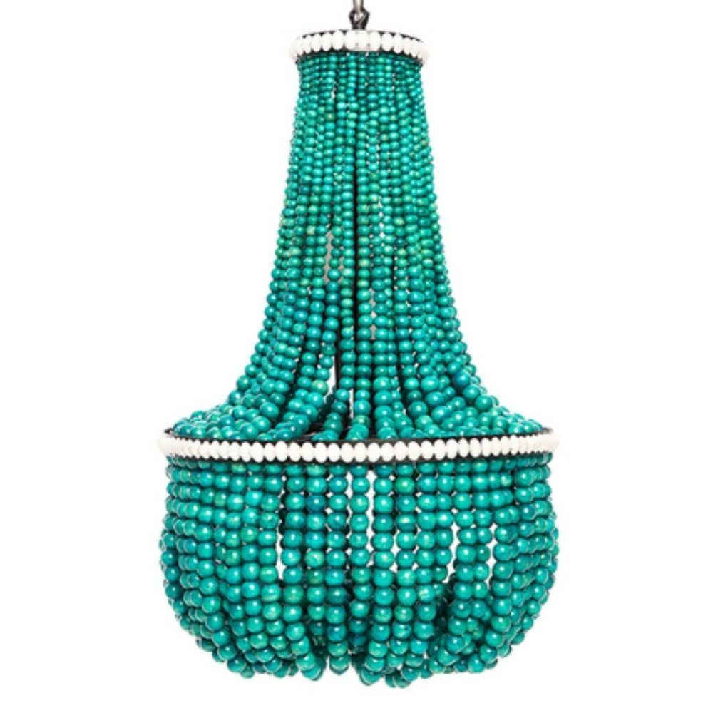 2019 Turquoise Blue Beaded Chandeliers Pertaining To Chandelier : Inexpensive Chandeliers Blue Chandelier Turquoise Blue (View 1 of 20)