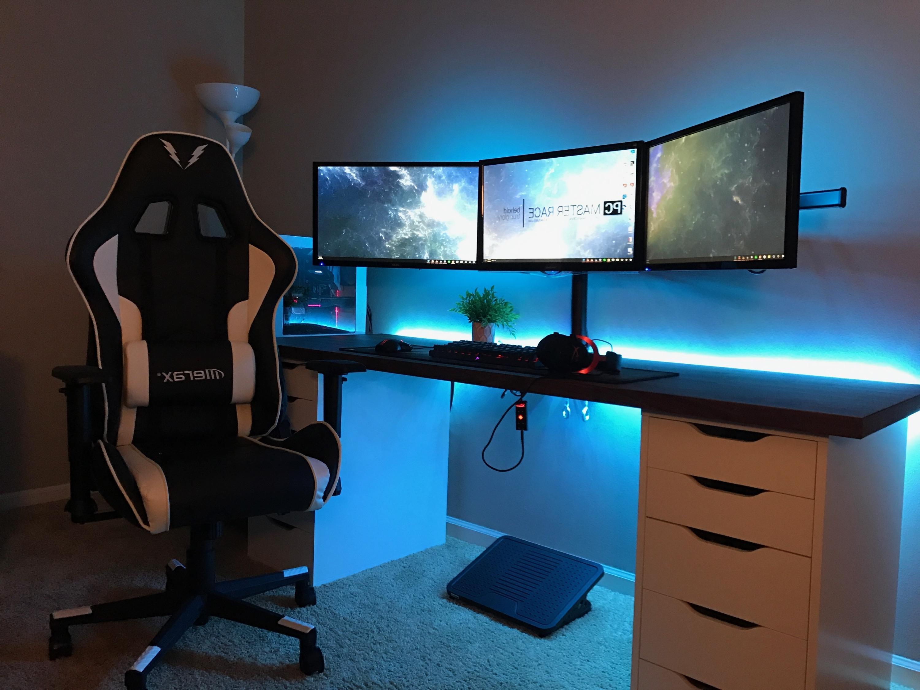 2019 Updated Gaming Setup (Changed Again) – Album On Imgur Throughout Computer Desks For 3 Monitors (View 13 of 20)