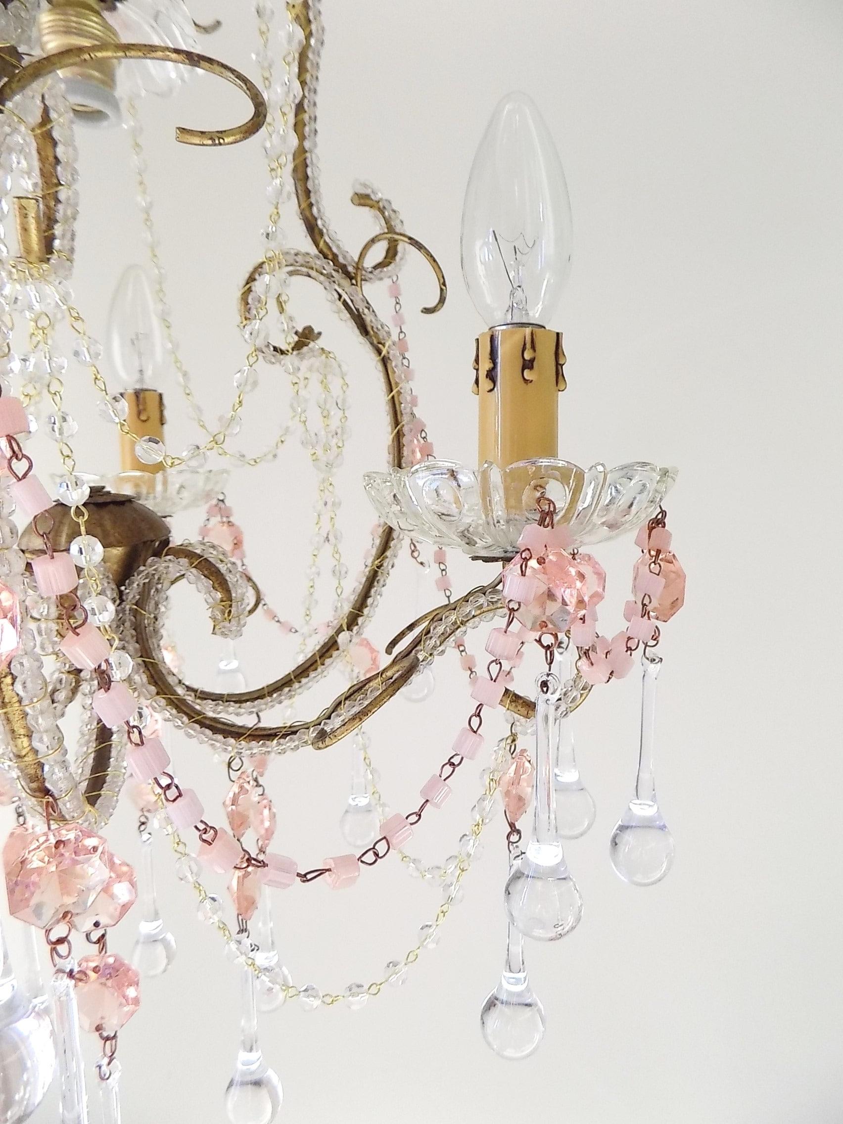 2019 Venetian Vintage Macaroni Beads Crystal Chandelier – Lorella Dia In Vintage Chandelier (View 1 of 20)