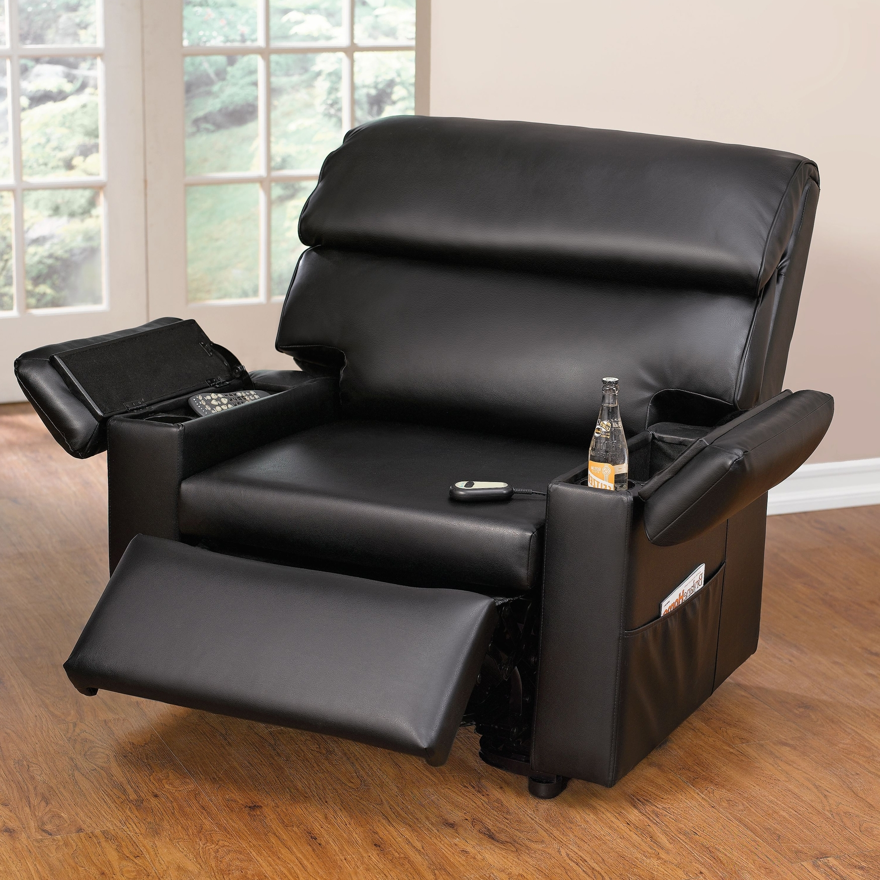 2019 Wide Sofa Chairs For Extra Wide Leather Look Power Lift Chair With Storage Arms (View 1 of 20)