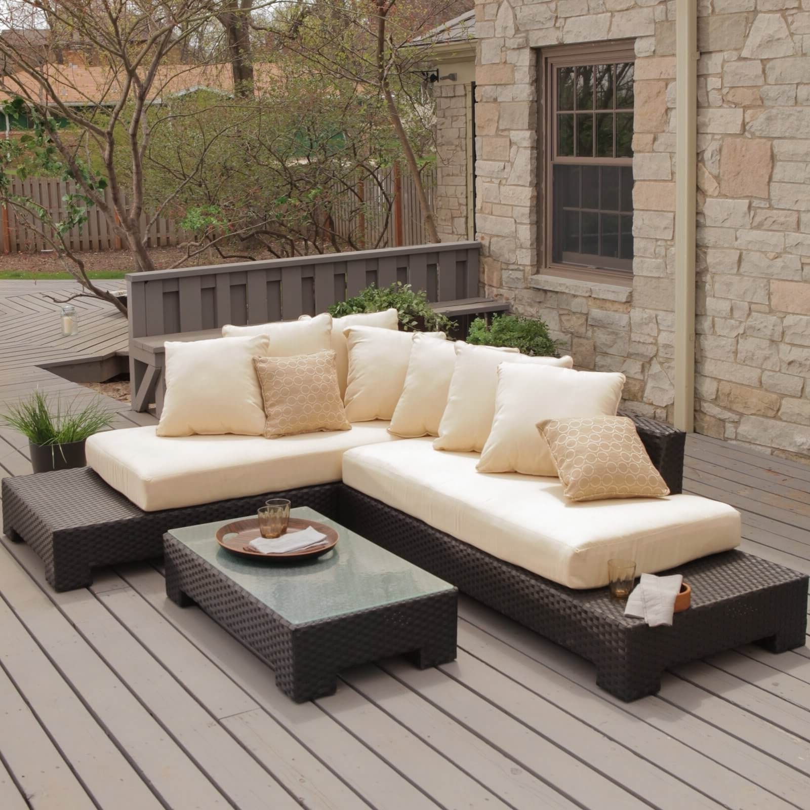 25 Awesome Modern Brown All Weather Outdoor Patio Sectionals Pertaining To Fashionable Outdoor Sofa Chairs (View 19 of 20)