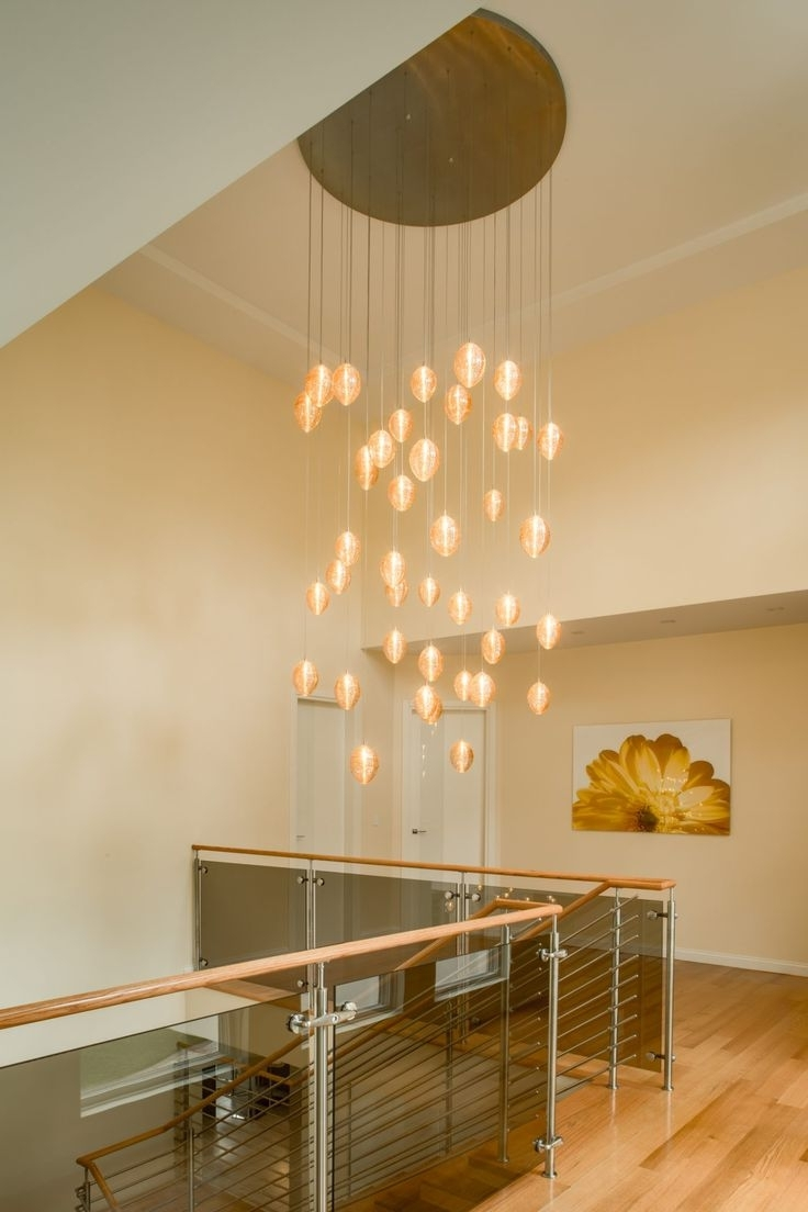 25 Best Two Story Chandeliers & Multi Level Chandeliers Images On Regarding Fashionable Stairwell Chandeliers (View 1 of 20)