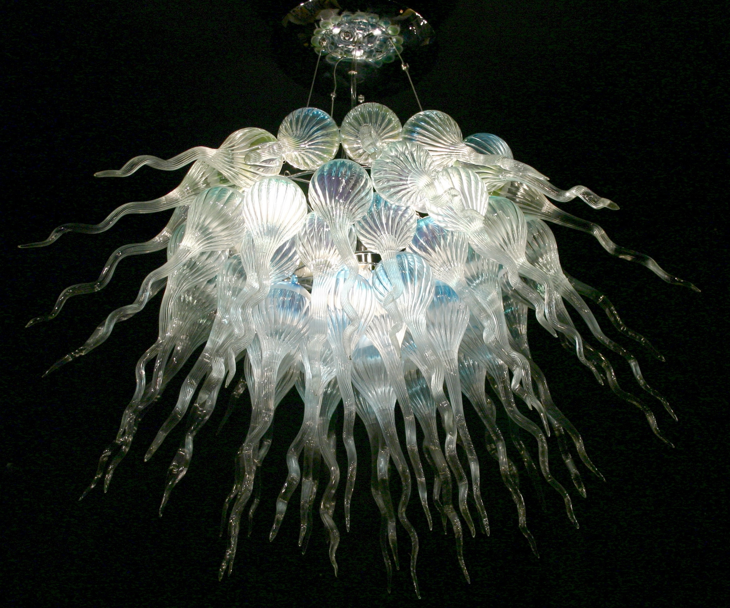 #29779 With Regard To Most Popular Turquoise Blown Glass Chandeliers (View 2 of 20)