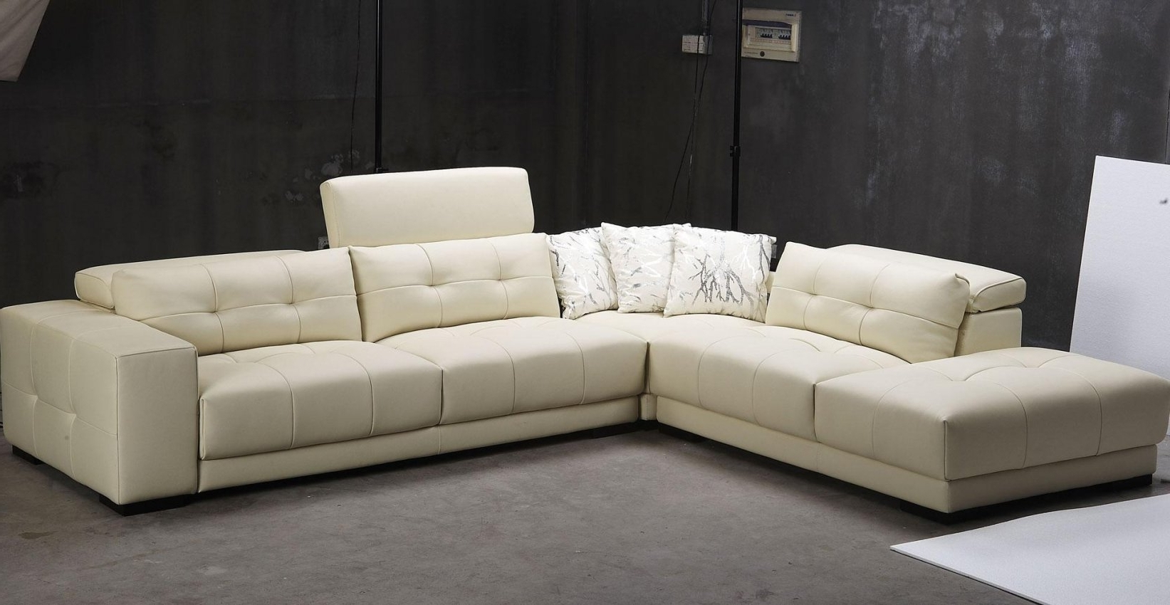 3 Piece Sectional Sleeper Sofas For Fashionable Sofa : Best Modern 3 Piece White Leather Sectional Sleeper Sofa (View 5 of 20)