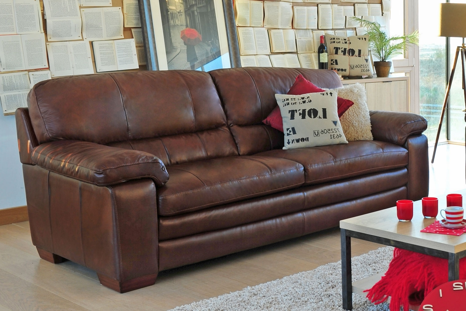 3 Seater Leather Sofas With Popular Lumina 3 Seater Leather Sofa From Harvey Norman Ireland (View 3 of 20)
