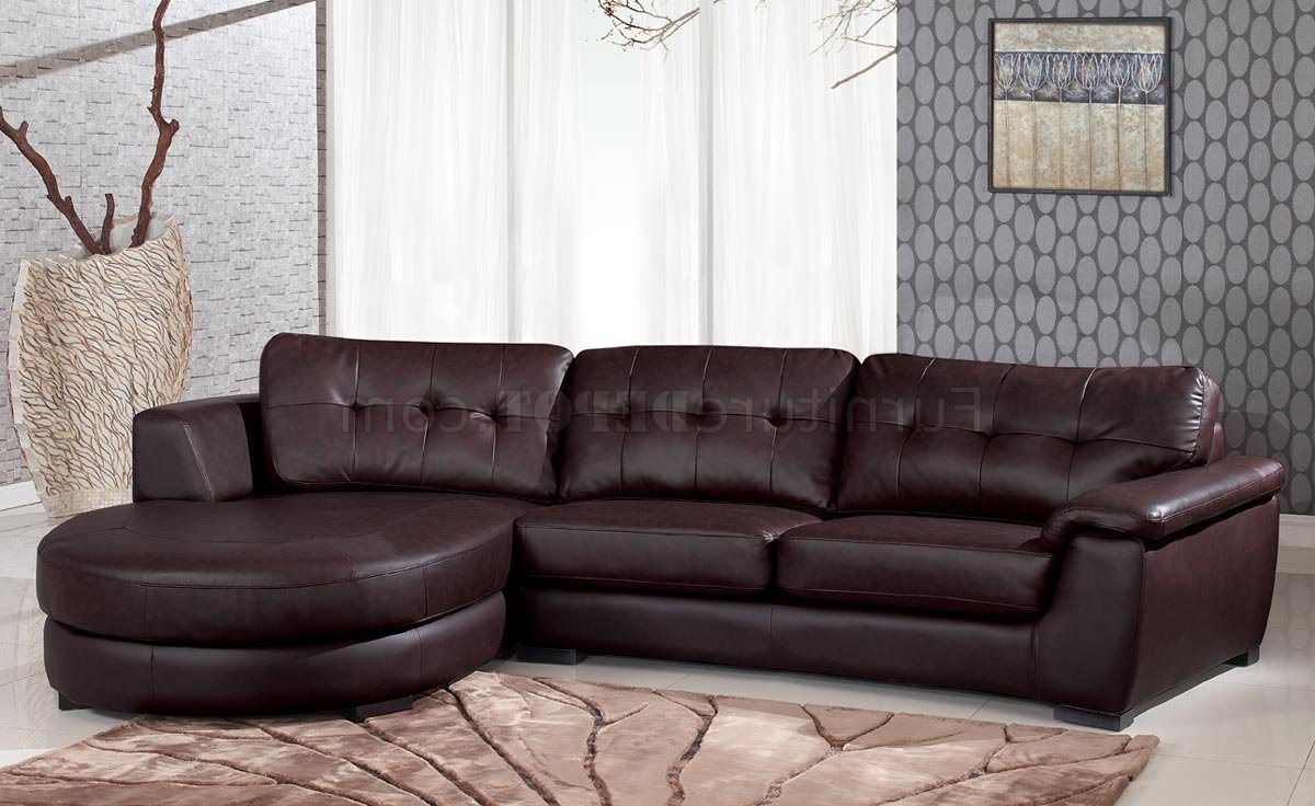 3612 Sectional Sofa In Brown Leatherglobal Inside Most Popular Comfortable Sectional Sofas (View 5 of 20)